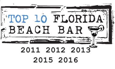 Shephard's Tiki Beach Bar Top 10 Florida Beach Bar Award winner