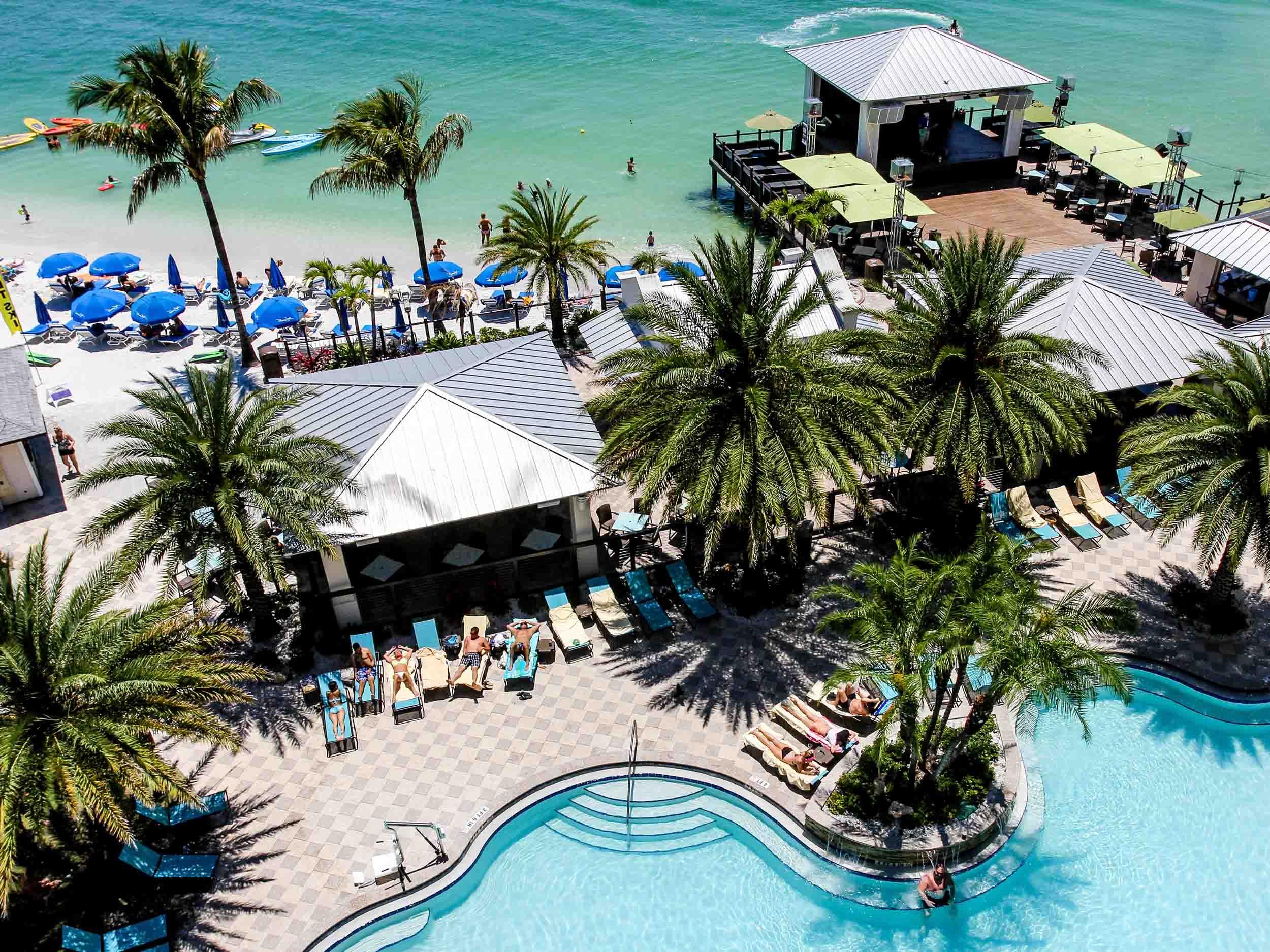 Shephard's Tiki Beach Bar Aerial View