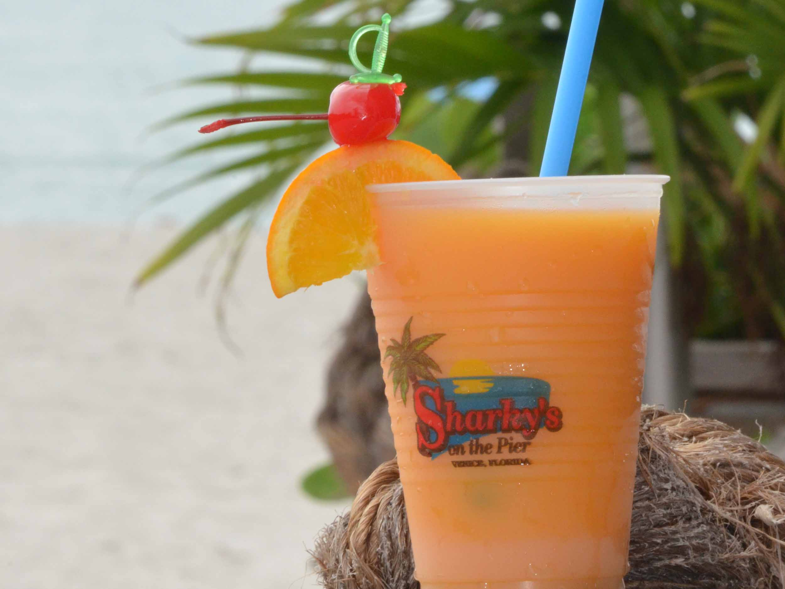 Sharky's on the Pier Mango Bango Drink
