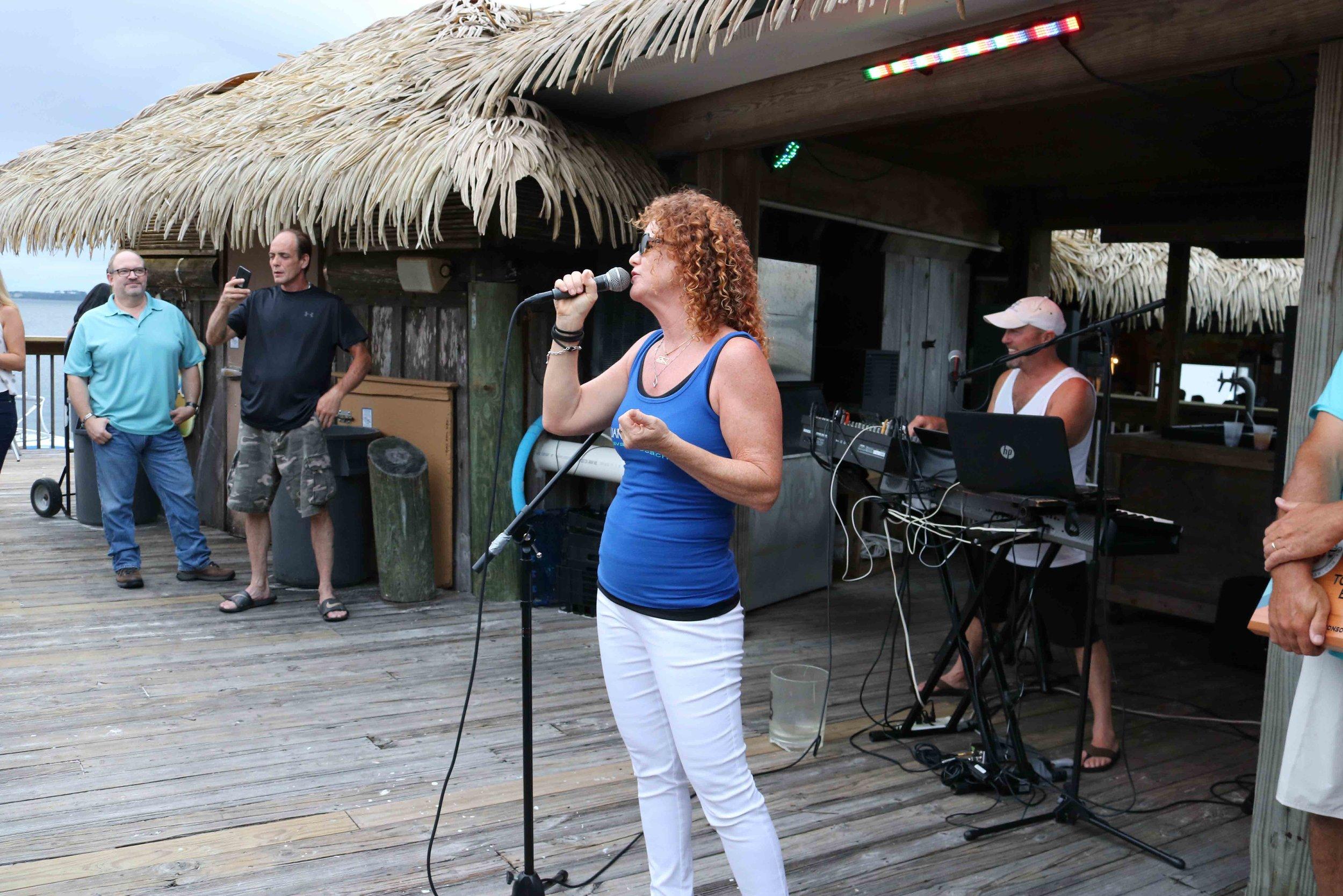 Juana shares memories at the 2017 Top 10 Florida Beach Bar party
