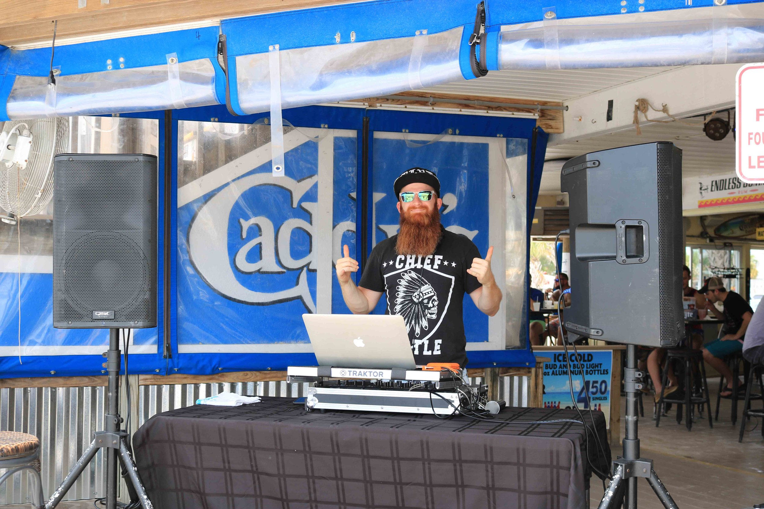 Cutty Jones kept the party going with a great mix of music