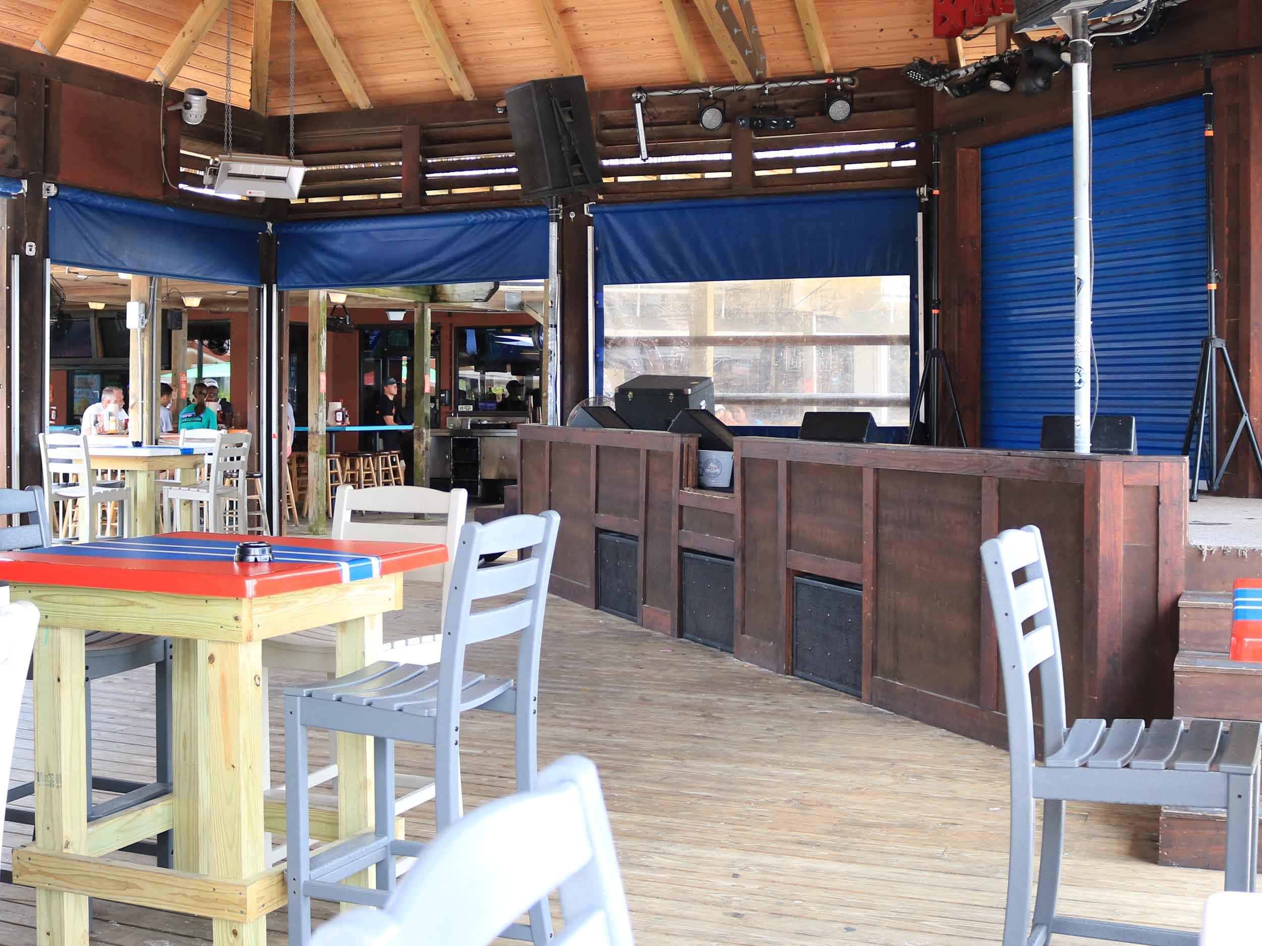 Bamboo Willies Beachside Bar Stage