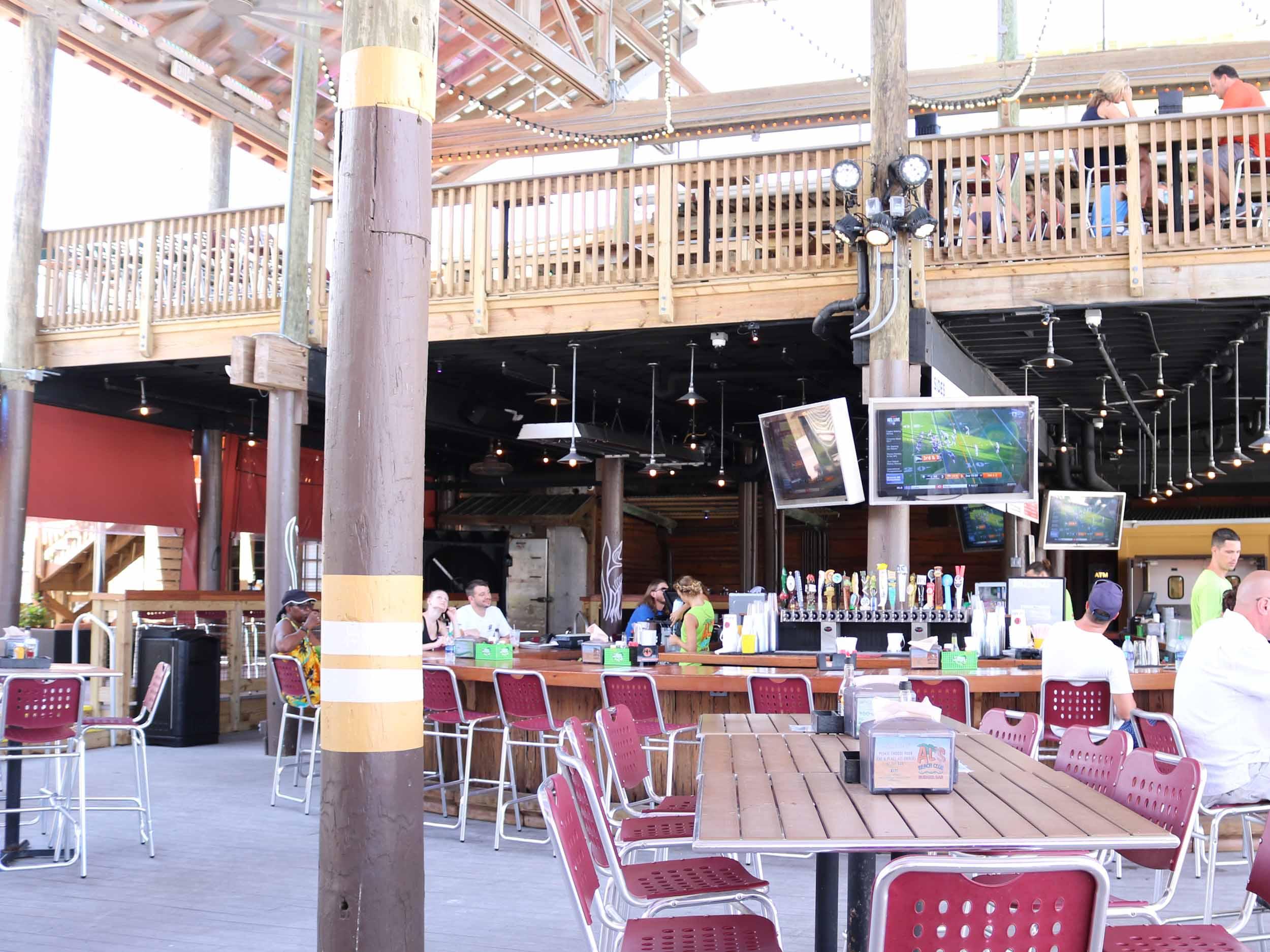 Al's Beach Club and Burger Bar Seating Area