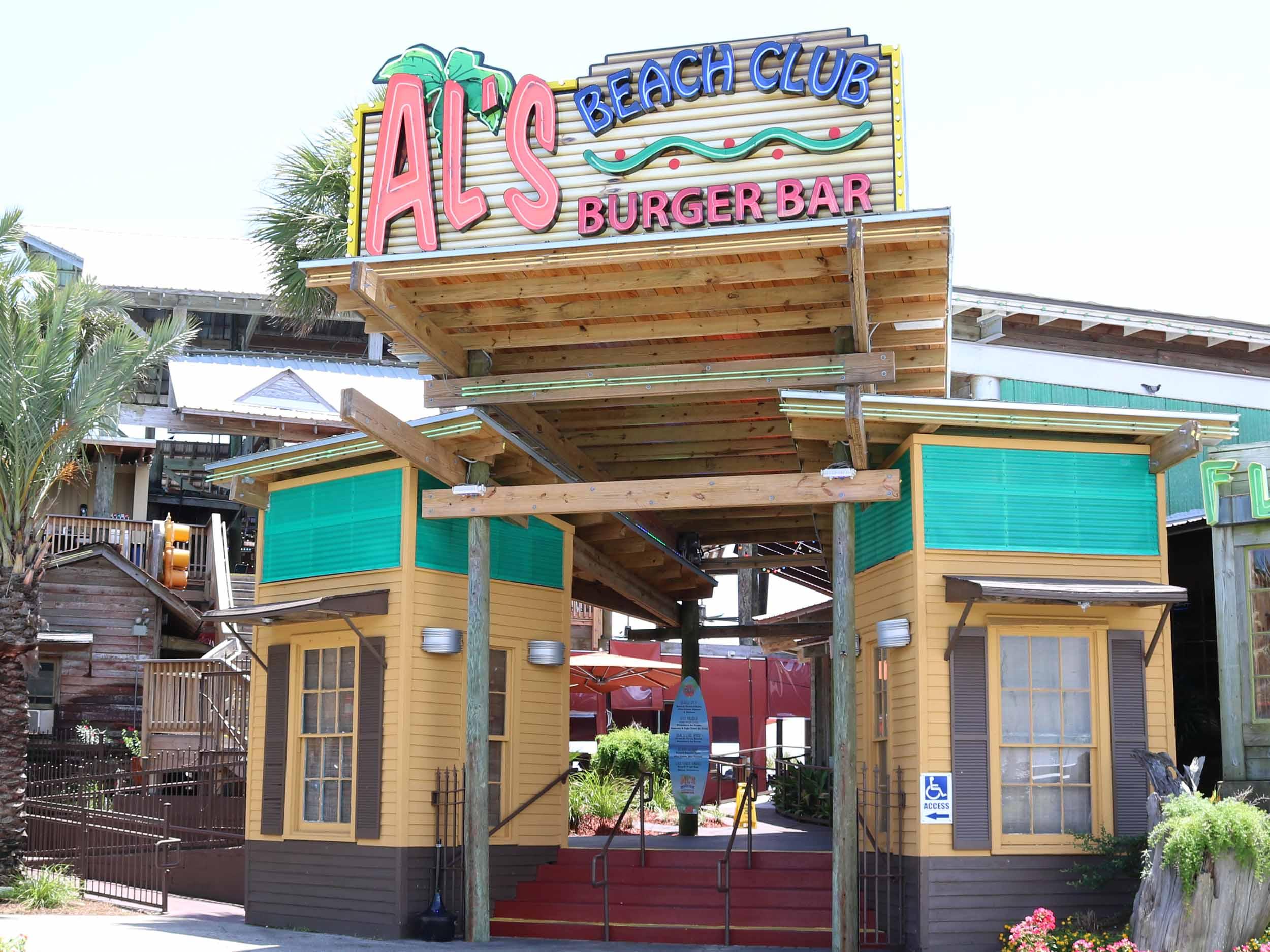 Al's Beach Club and Burger Bar Entrance