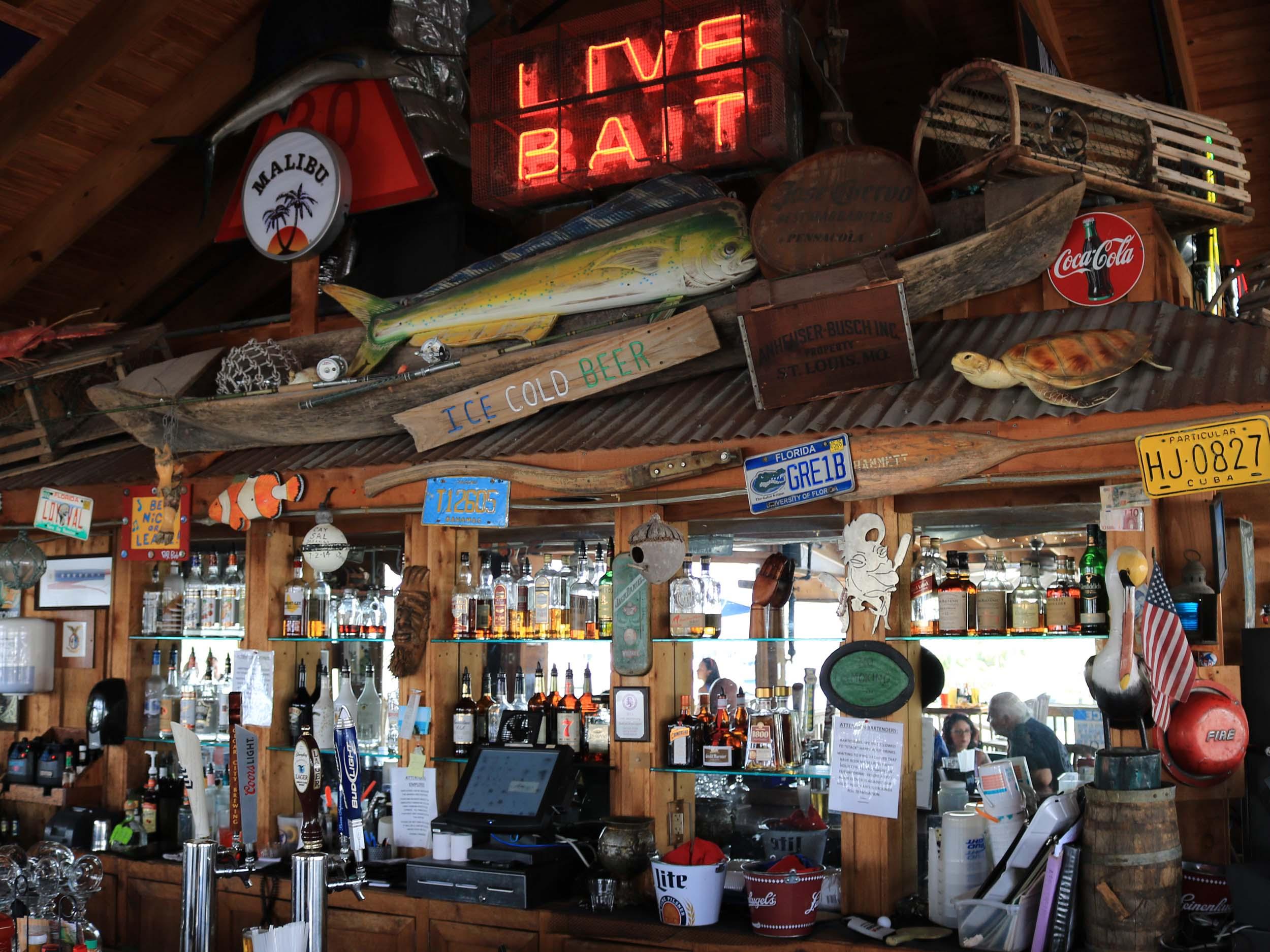 The Oar House Bar Area