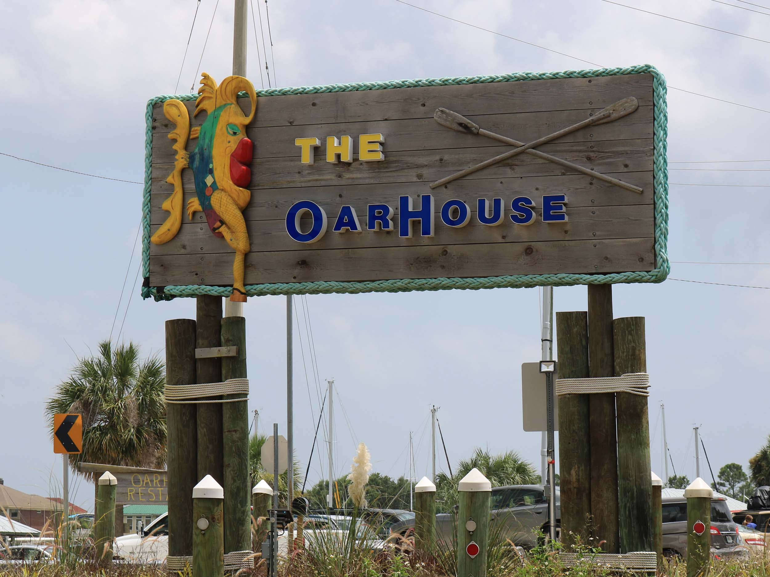 The Oar House Sign