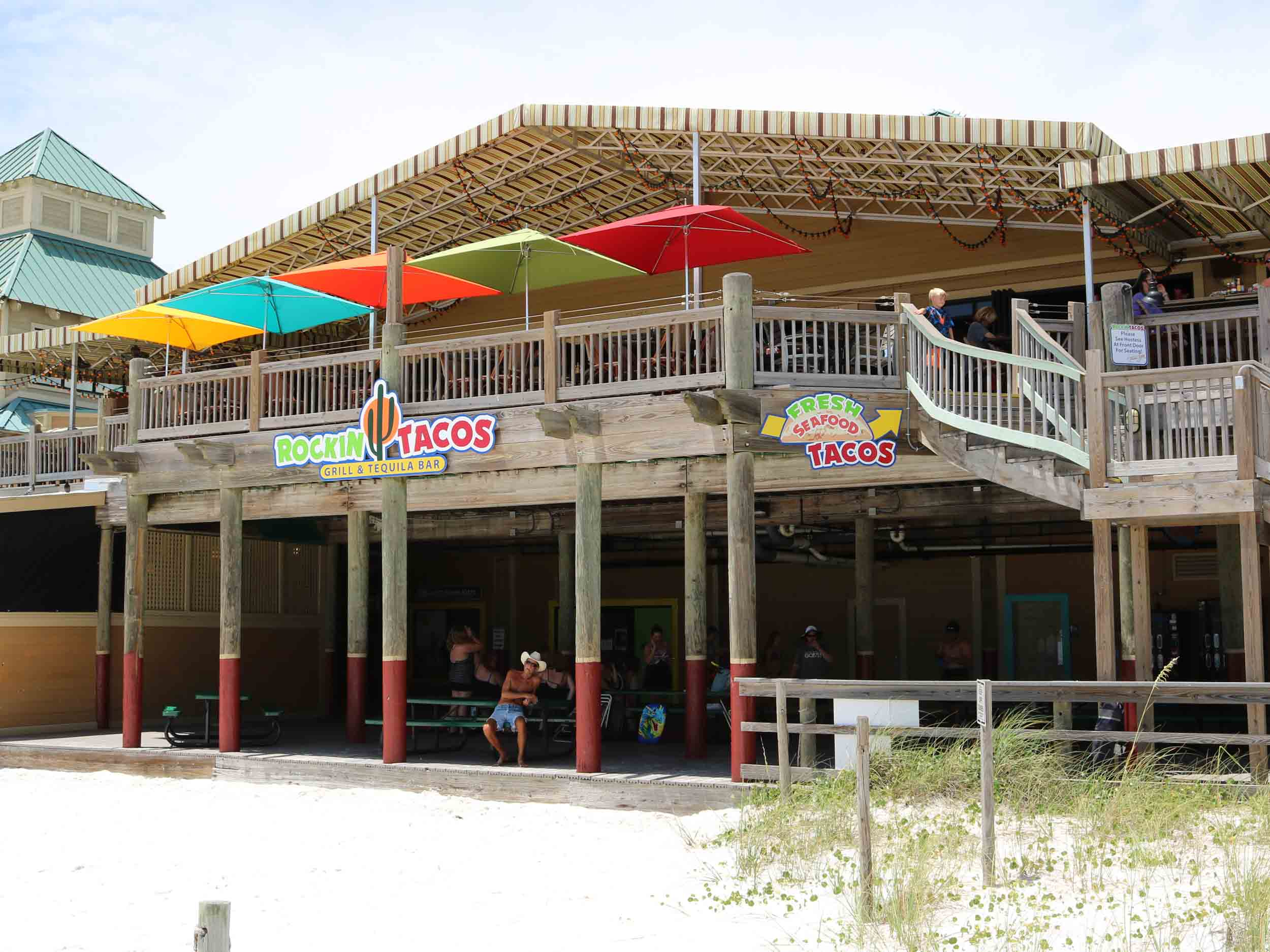 Rockin' Tacos Beach Entrance