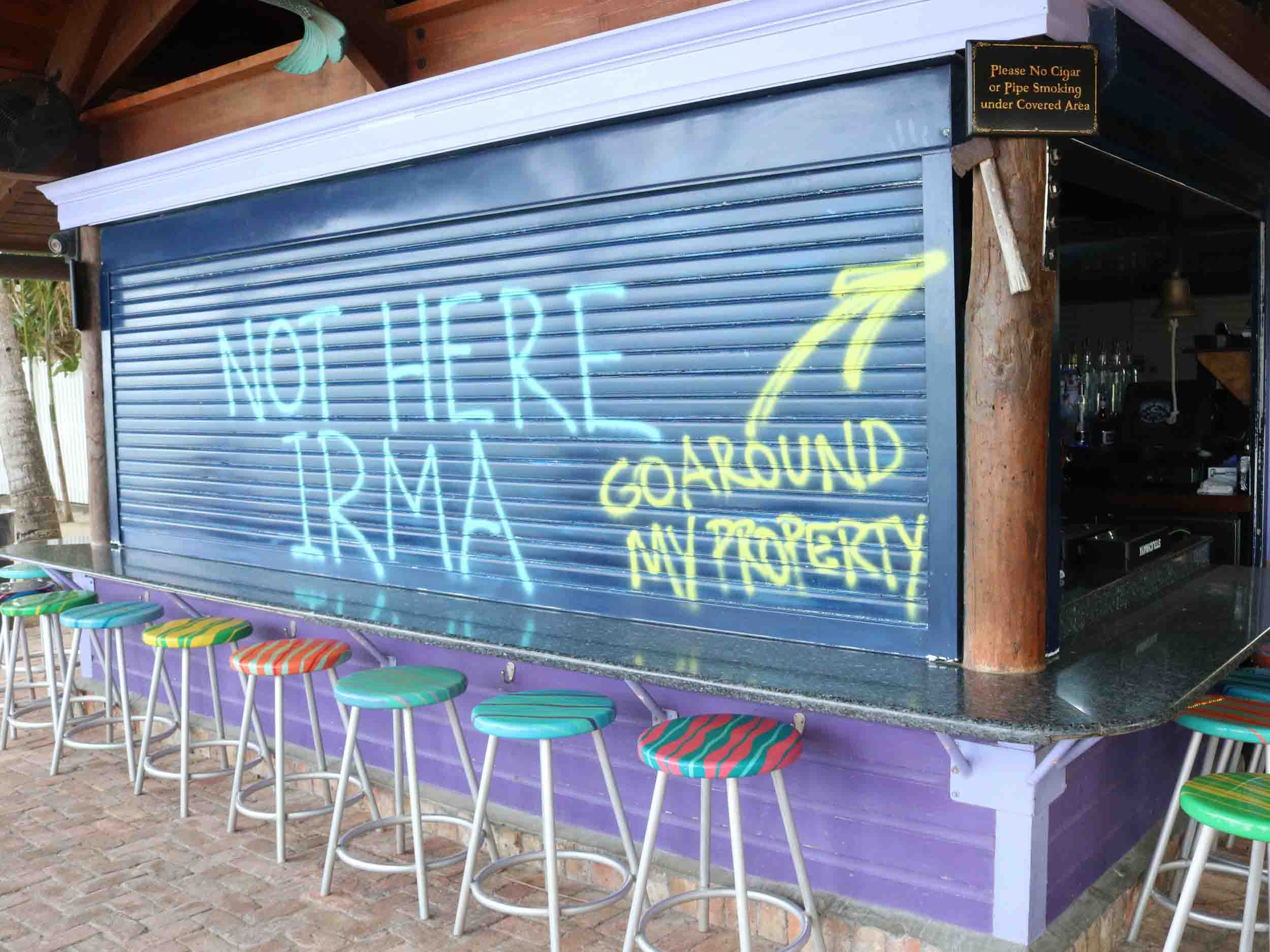 Not Here Irma Sign