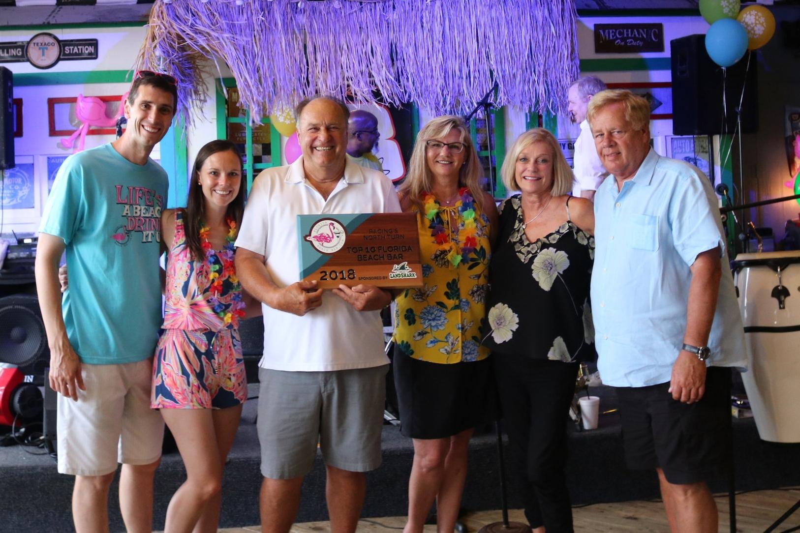2018 Top Florida Beach Bar award party at Racing's North Turn