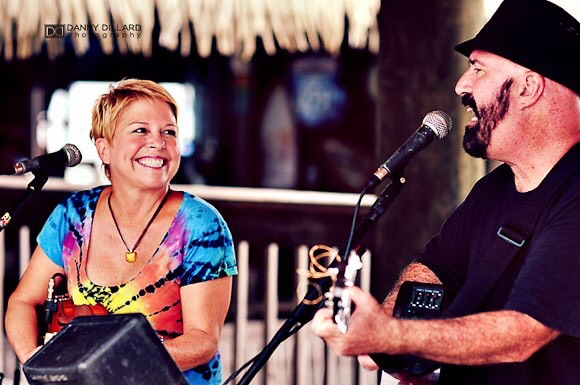Sue Kittredge and Steve Reeths of Coconut Radio. Image by Danny Dillard Photography.
