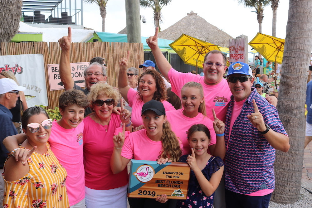 2019 Best Florida Beach Bar award party at Sharky's on the Pier