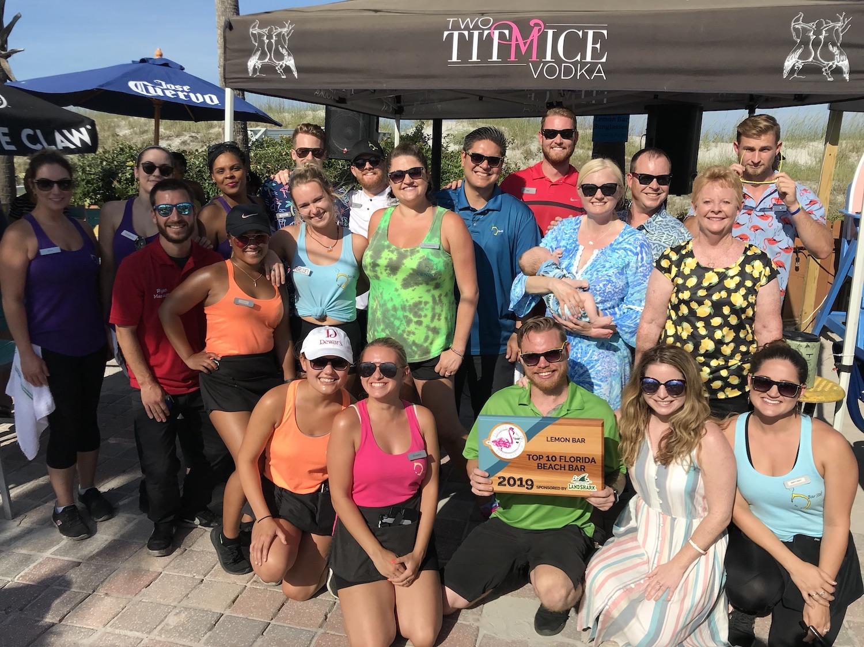 2019 Best Florida Beach Bar award party at Lemon Bar