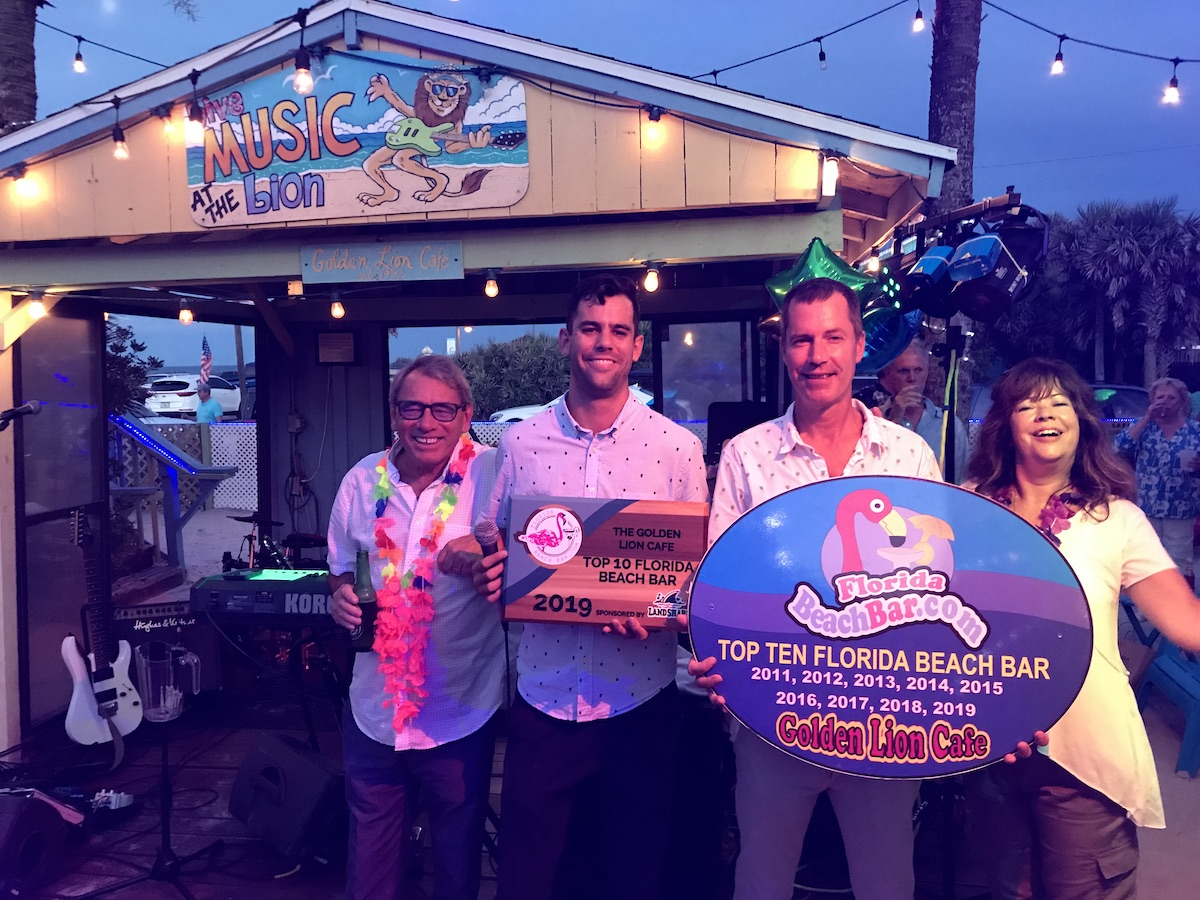 2019 Best Florida Beach Bar award party at the Golden Lion Cafe