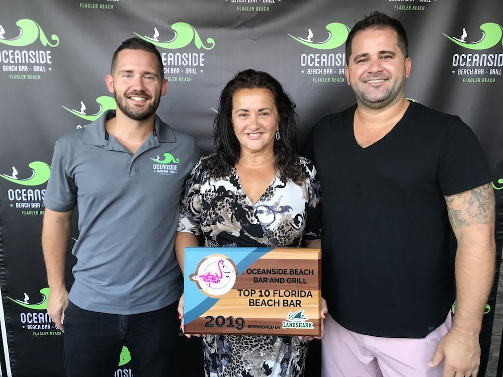 2019 Best Florida Beach Bar award party at Oceanside Beach Bar and Grill