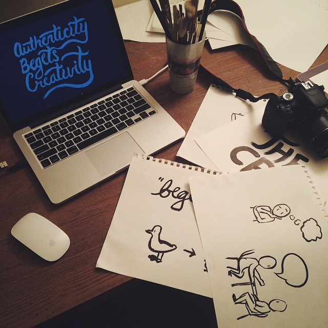 Presentation creation night in prep for #TEDxYouth this Sat at Skidmore #lettering #illustration