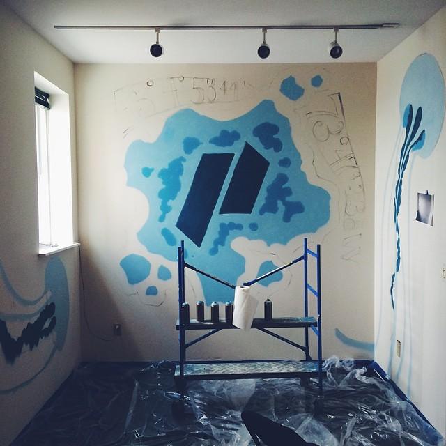 labor daybor painting sesh #graffito