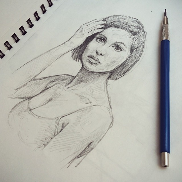 #sketchbook #graphite #portrait