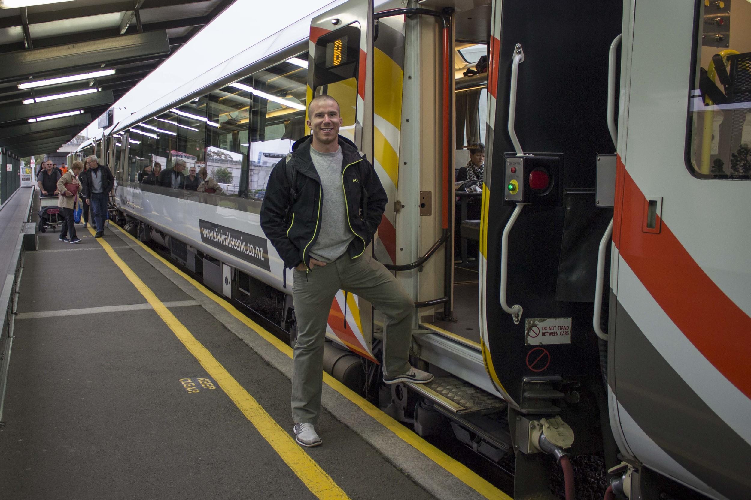 Waiting to board the TranzAlpine