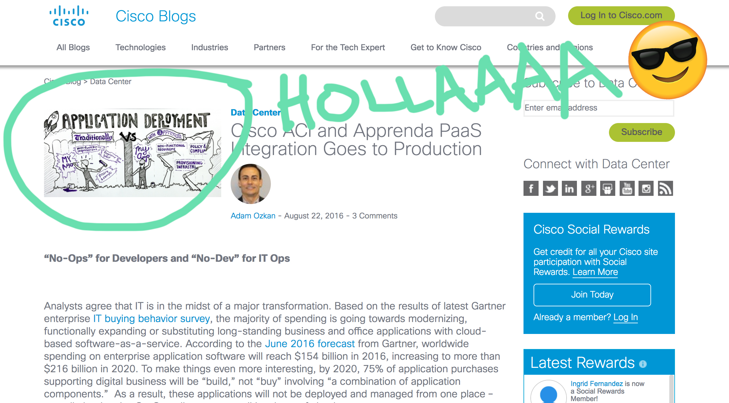 Cisco blog cameo appearance