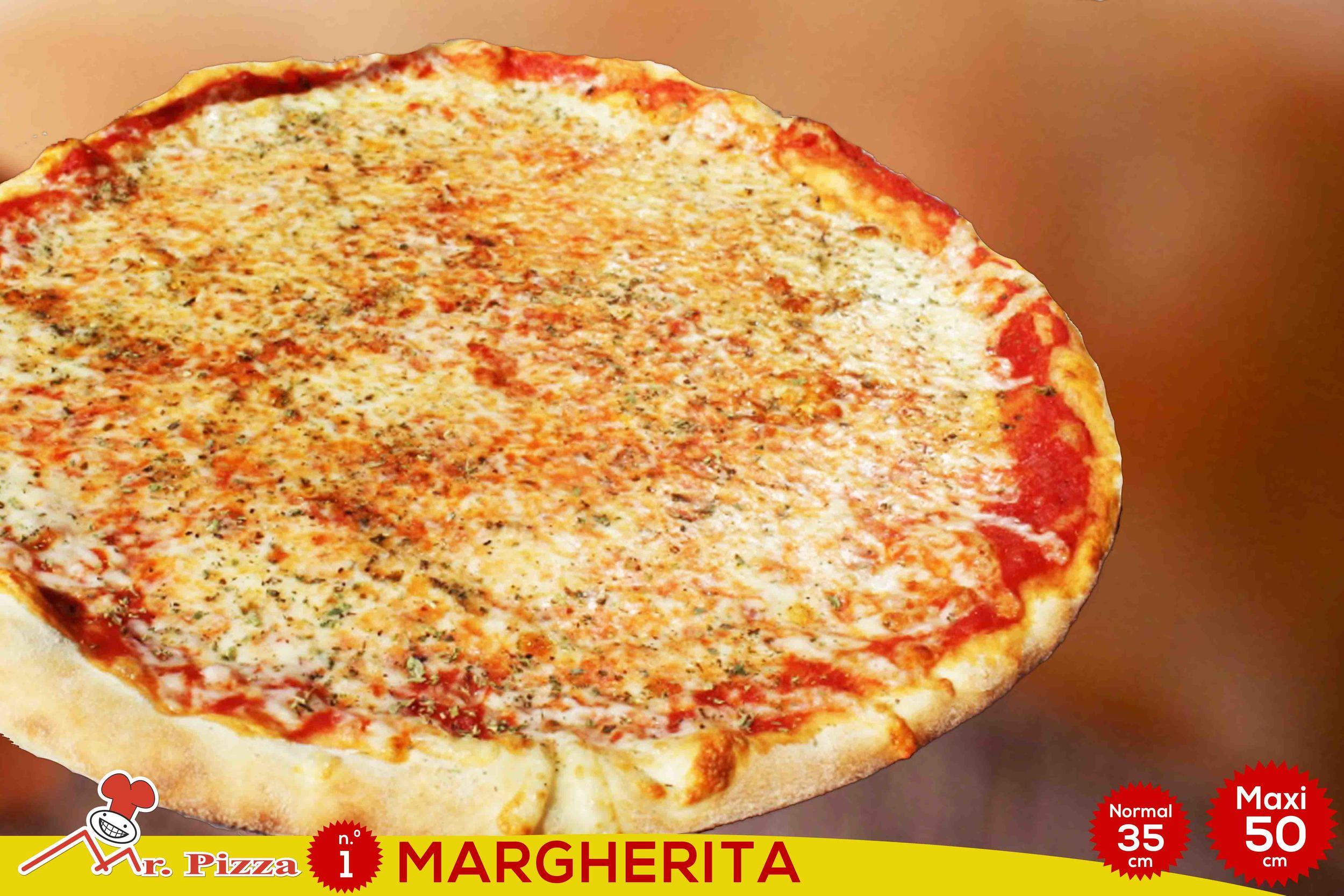 #1 - Margherita  tomate . mozzarella . oregãos