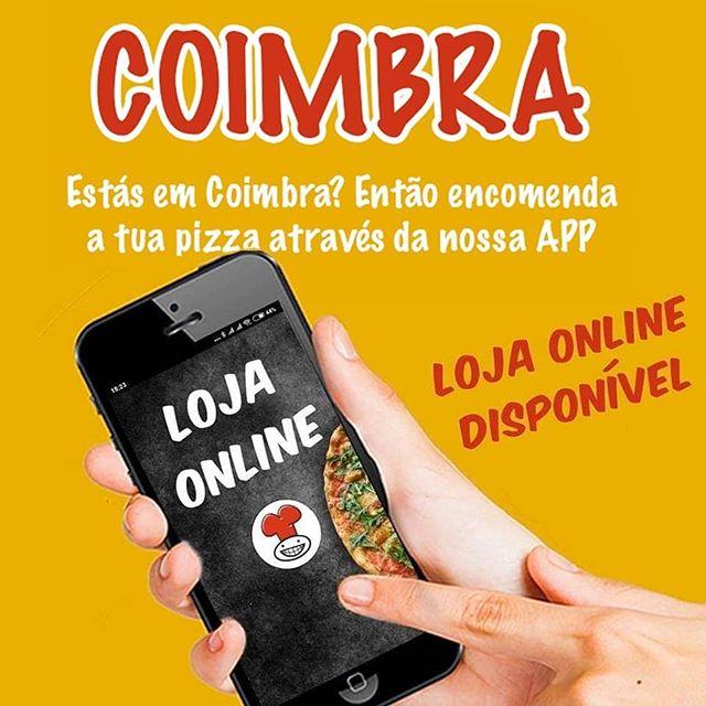 Estás em Coimbra?  Já podes encomendar a tua pizza através da nossa APP! Faz o download e entra na loja online.  #app #encomendaonline #appmrpizza #mrpizzapt #mrpizza #pizza #pizzas #coimbra