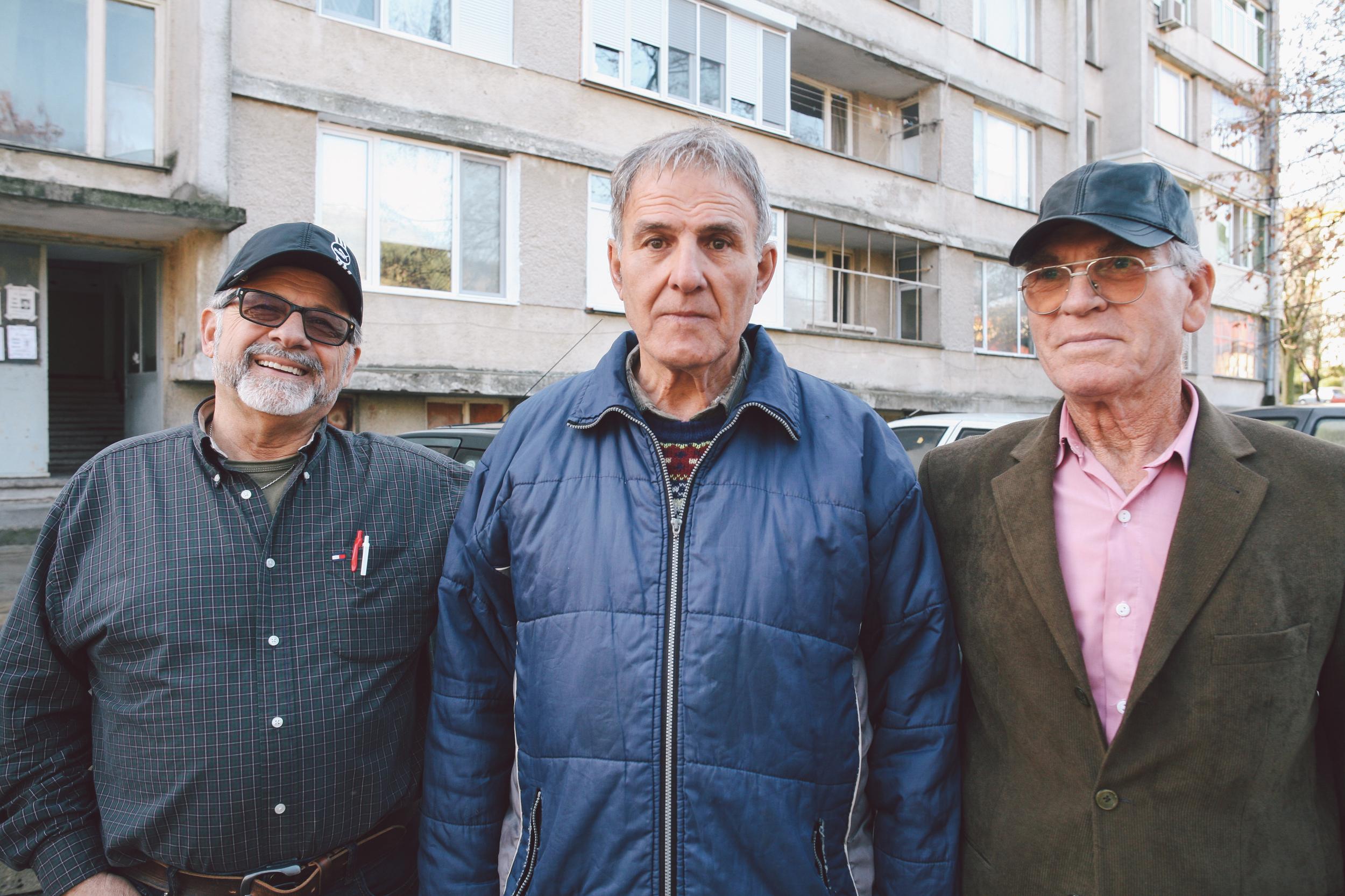 From Left to Right: My father (Antonis Kazaklis), Nikos Apostolov (O daskalos), and my uncle (Athanasios Lambidis)