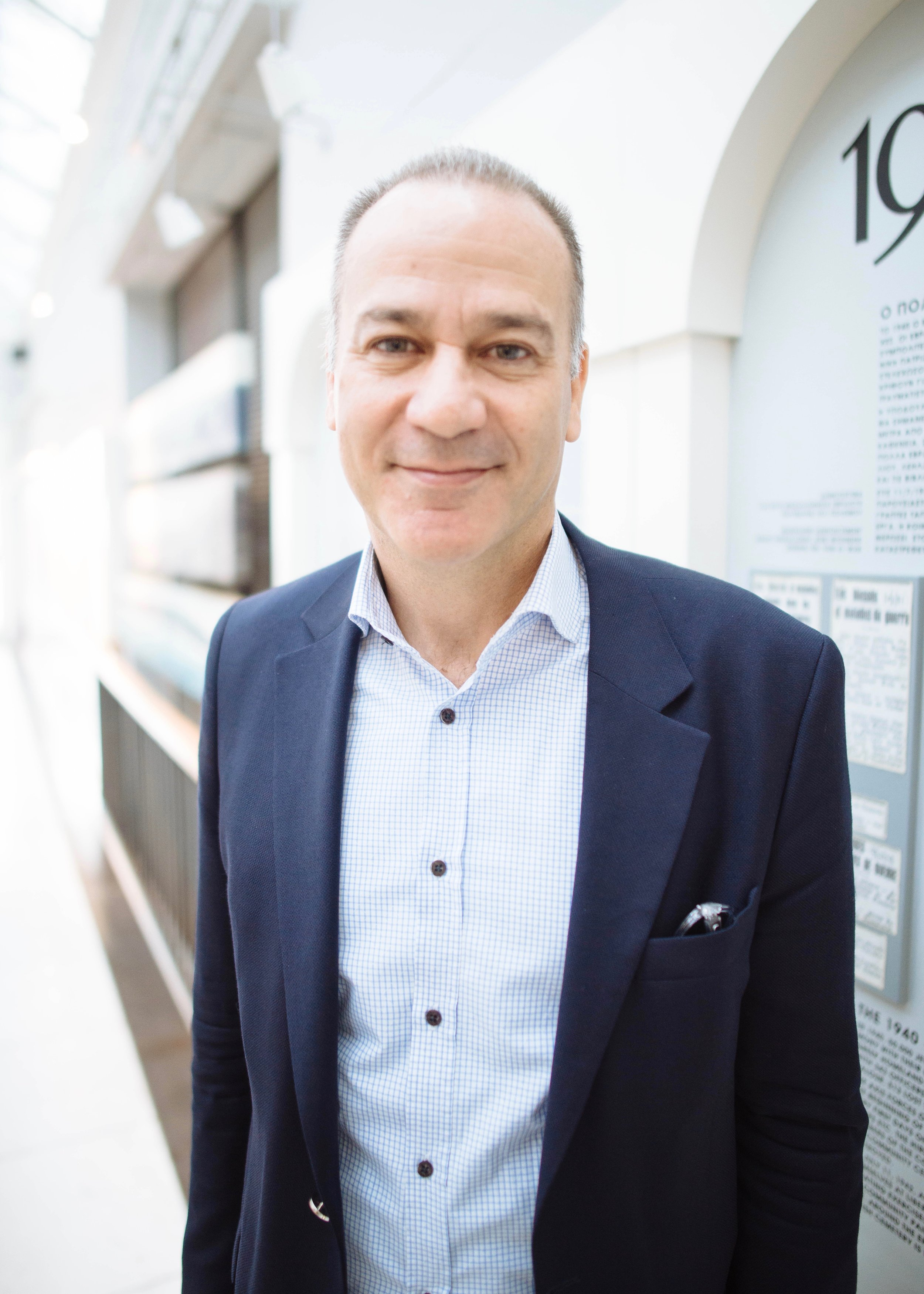 Larry Sefiha - President of the Jewish Community of Thessaloniki.