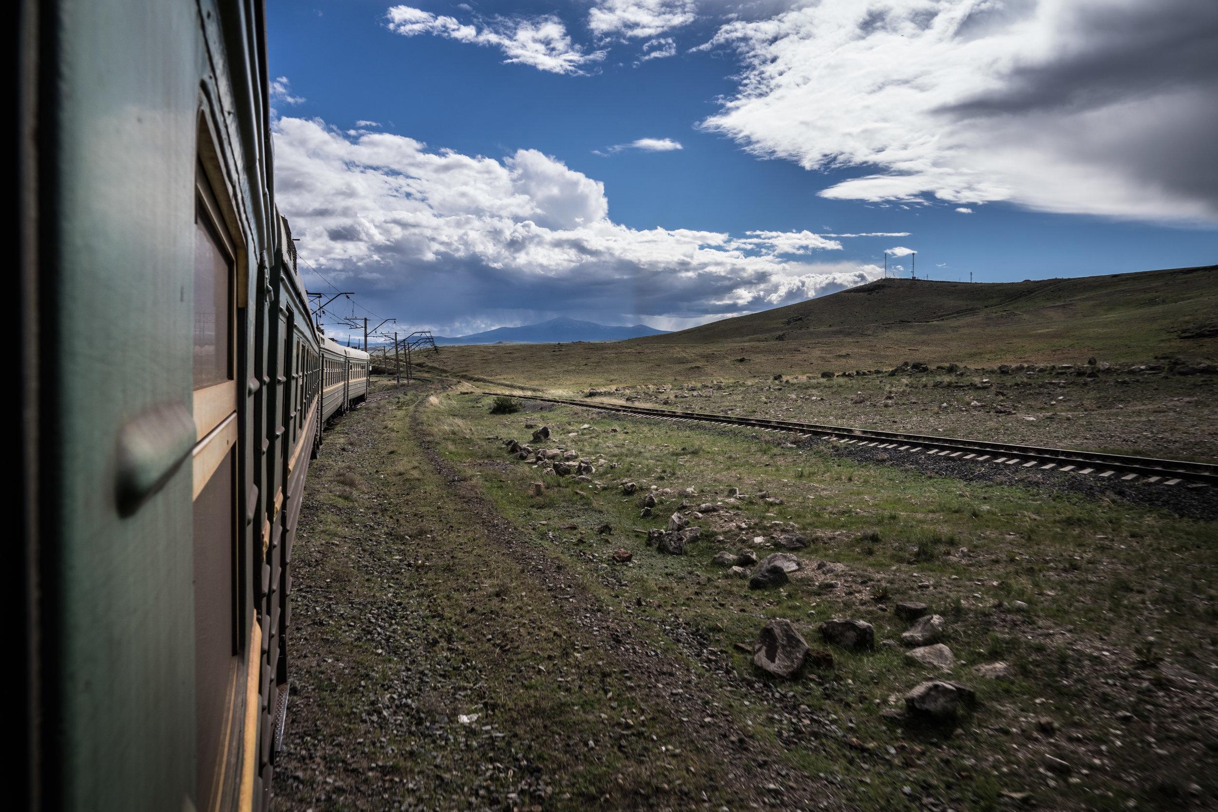 Trainride to Gyumri
