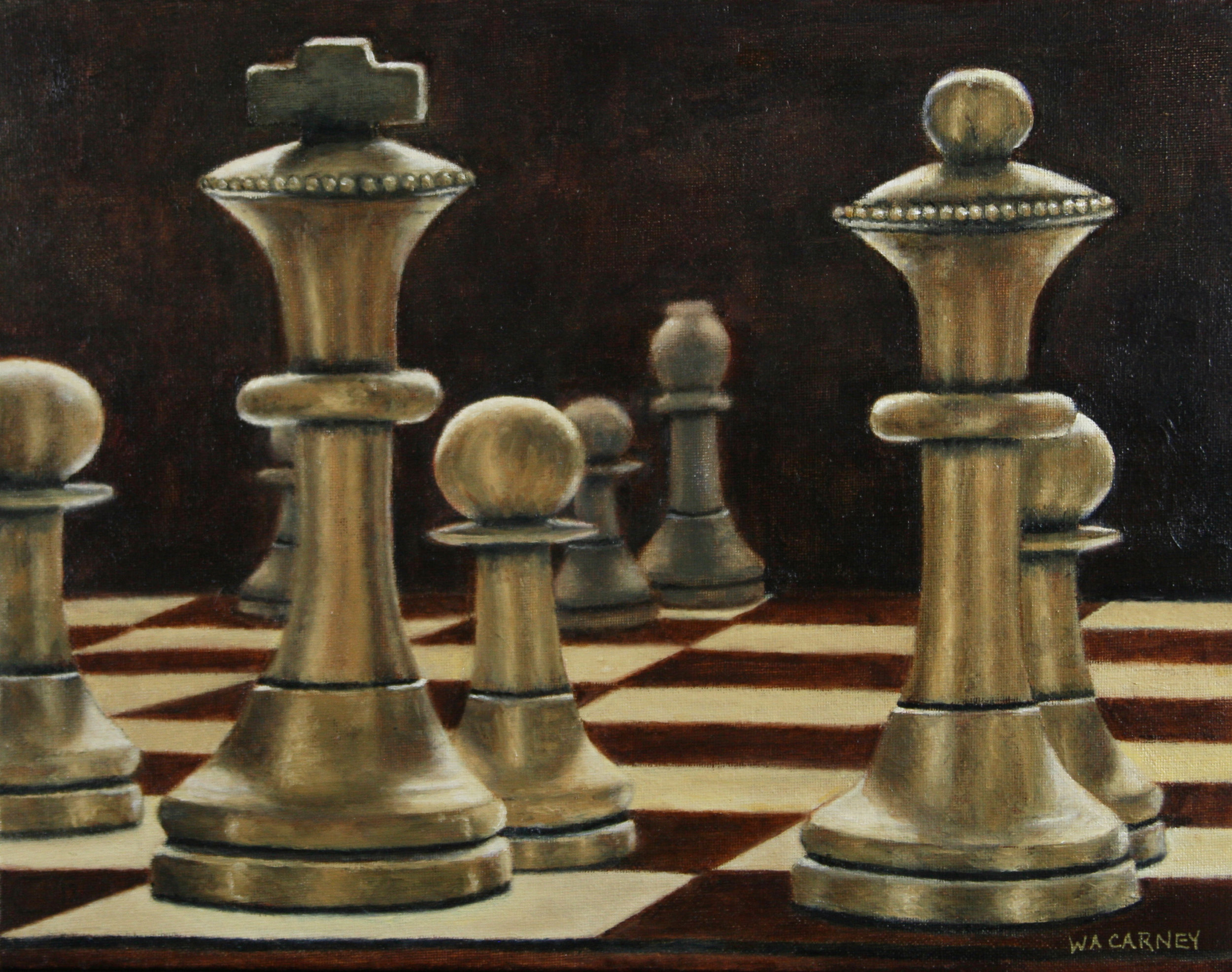 """PARTNERS  11"""" x 14"""" Oil on canvas - SOLD"""