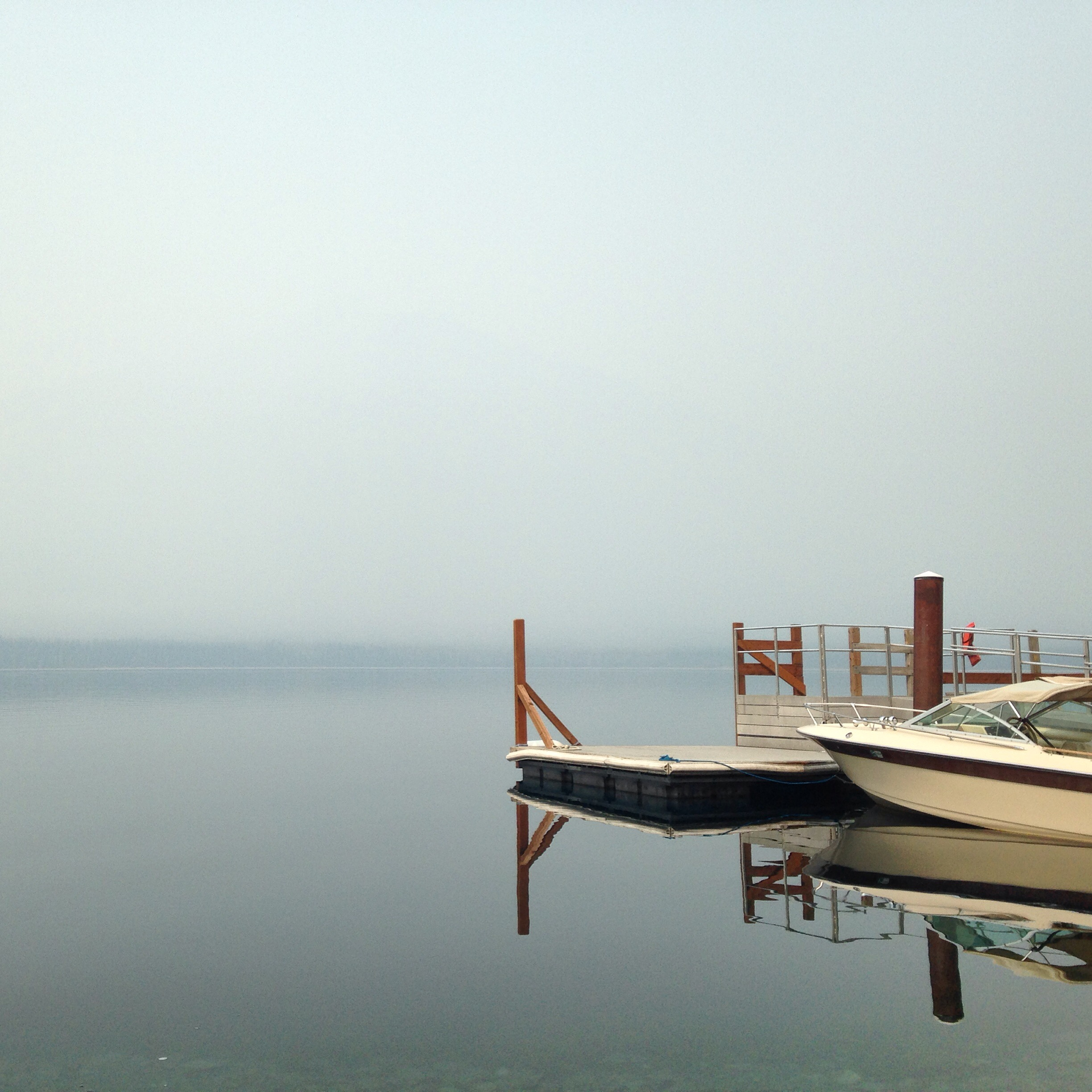 See that stuff that looks like fog? It's actually smoke sitting on the top of Lake McDonald on the west side of Glacier National Park.