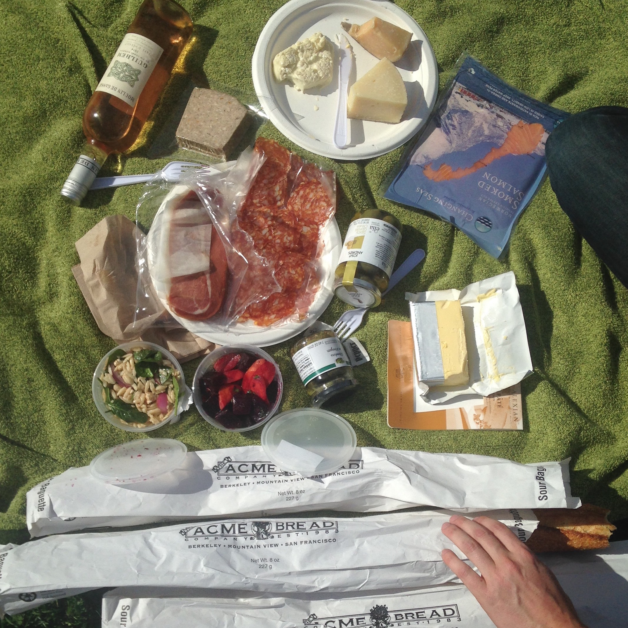 Definitely don't rush a picnic like this one.