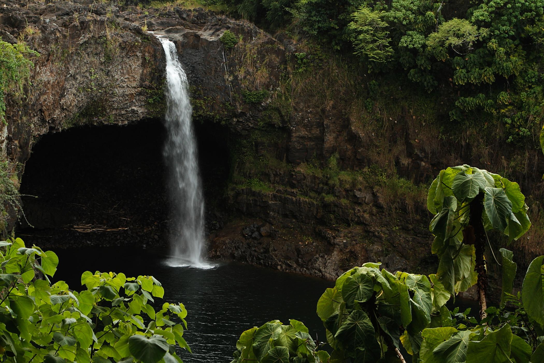 Water Fall On Big Island