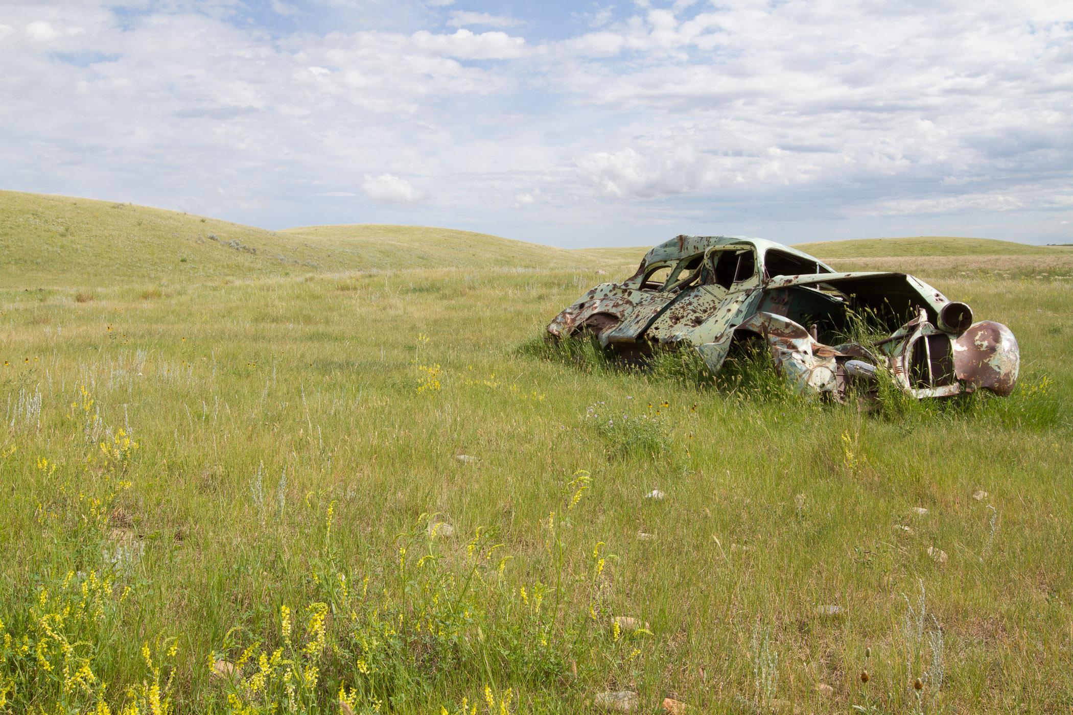 Car - Grasslands NP Canada