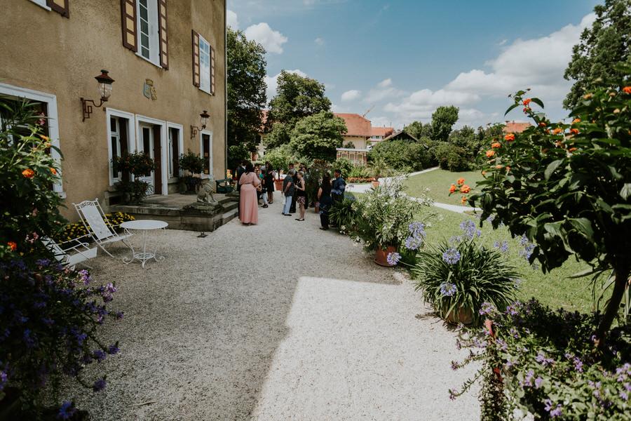 Blick auf den Park Schloss Fachsenfeld