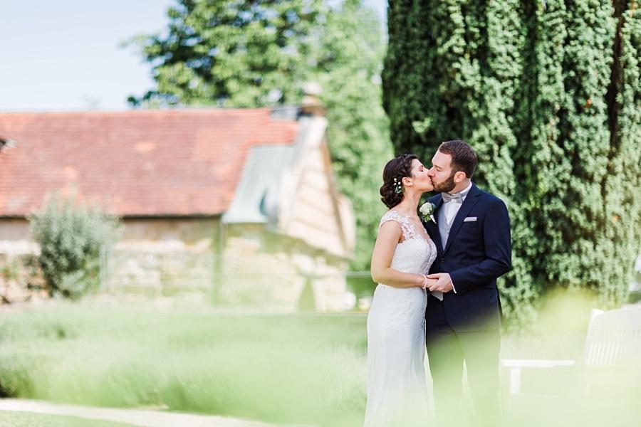 Schönes Wetter für die Brautpaarbilder auf Schloss Ellwangen mit Anastasia Walther