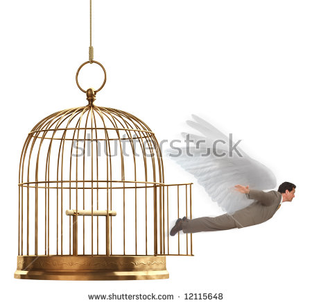 stock-photo-a-man-in-a-suit-flying-out-of-an-open-brass-birdcage-on-a-white-background-12115648.jpg