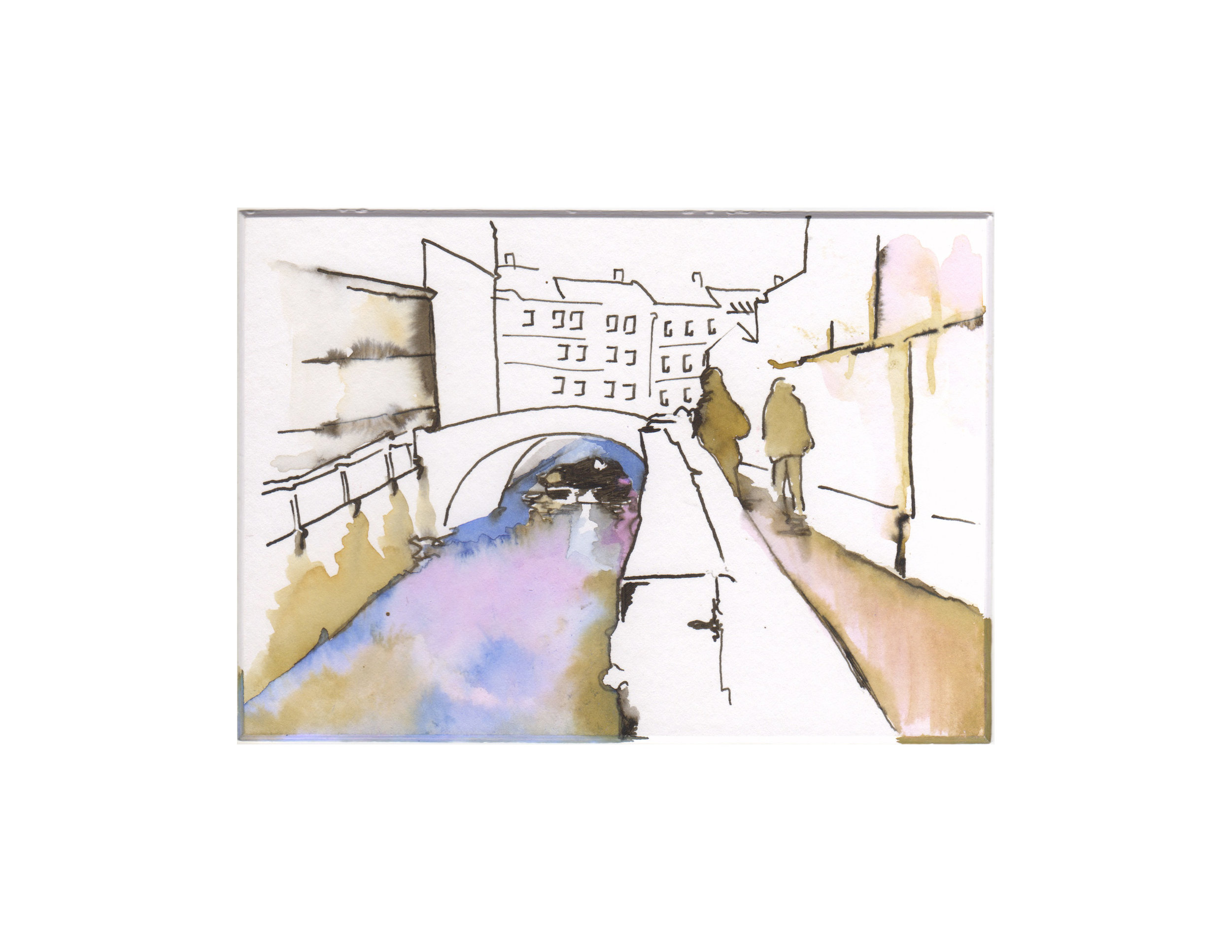 Pastel City Drawings