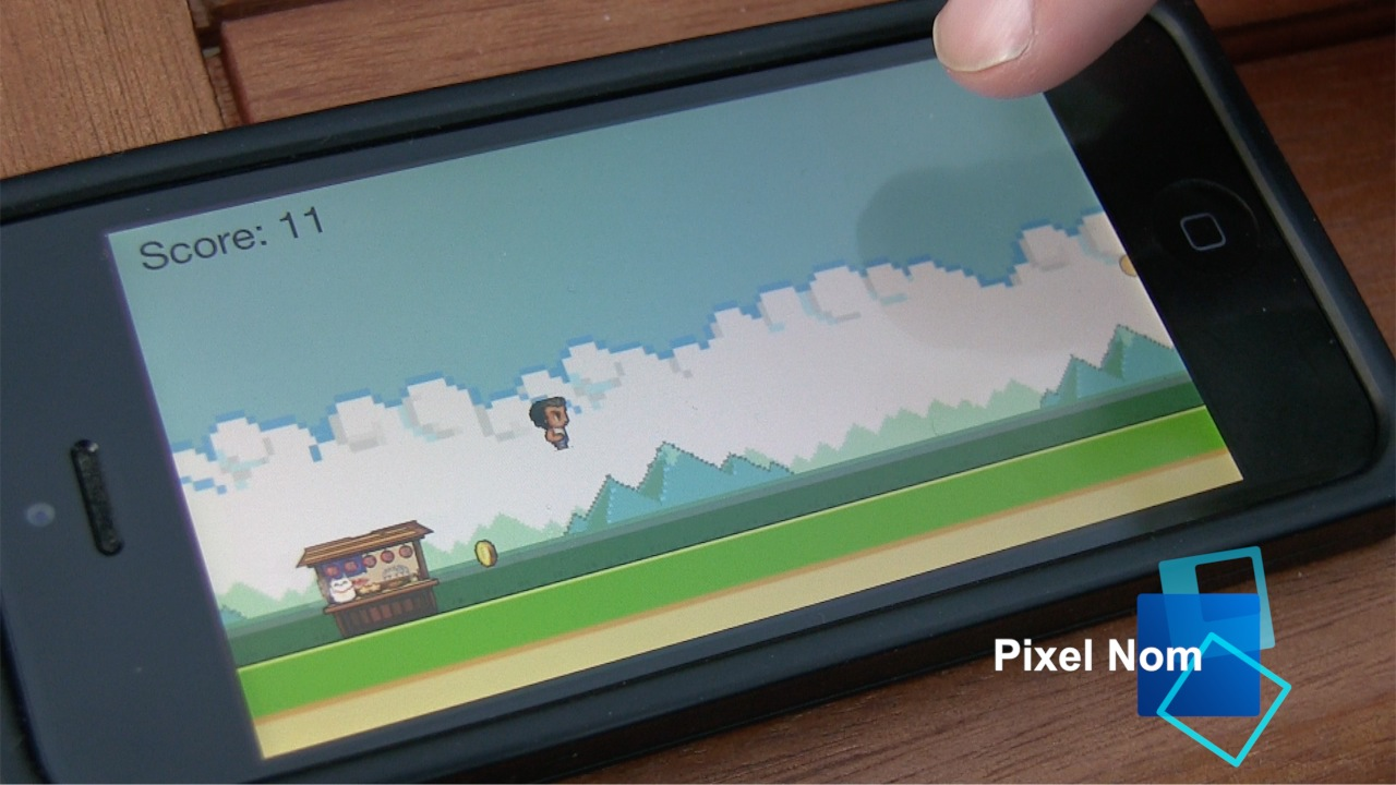 Pixel Nom iOS App Gameplay