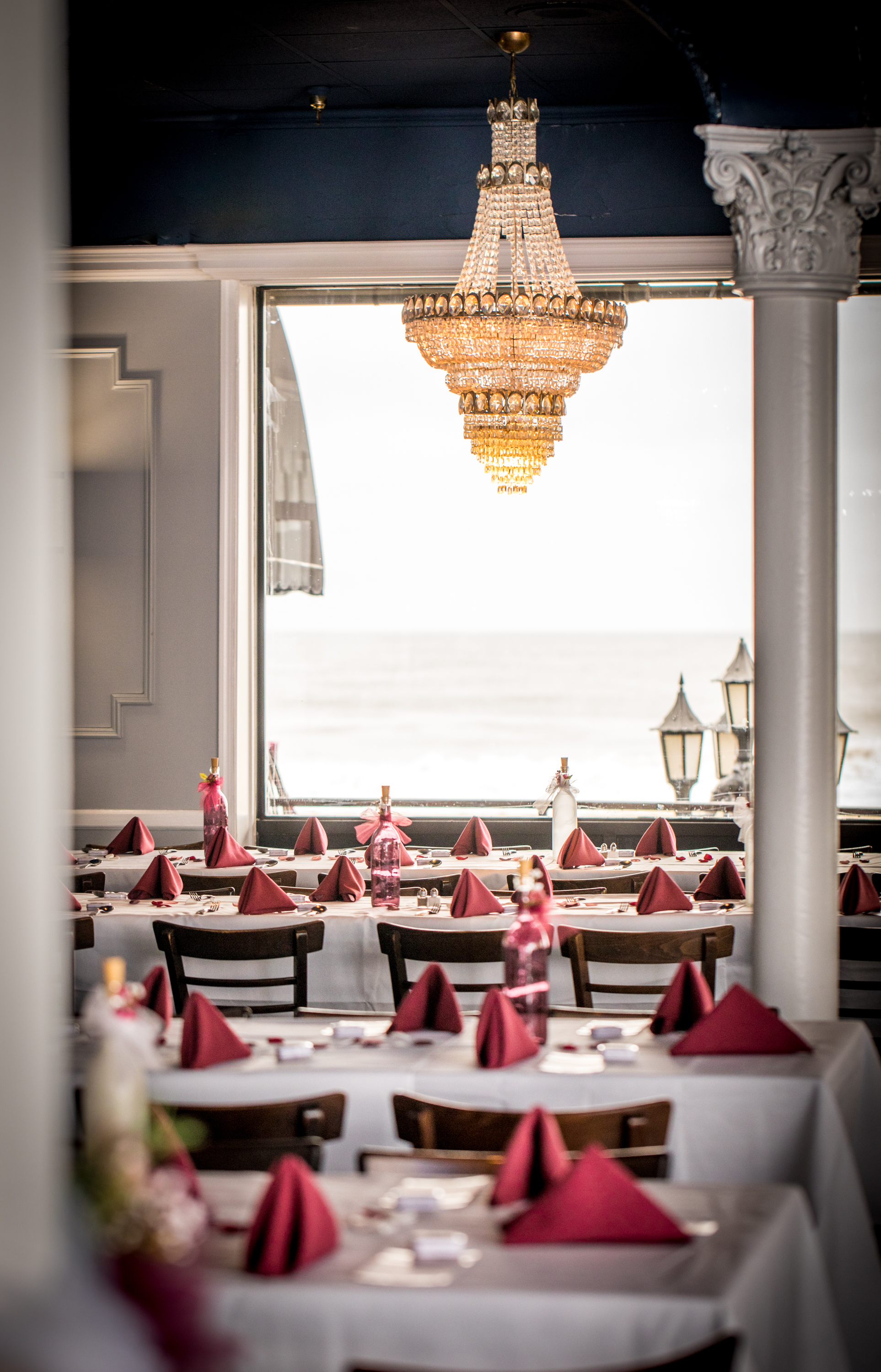 Ocean 13 wedding venue sits just off the boardwalk, offering beautiful panoramas of the Atlantic from Ocean City.
