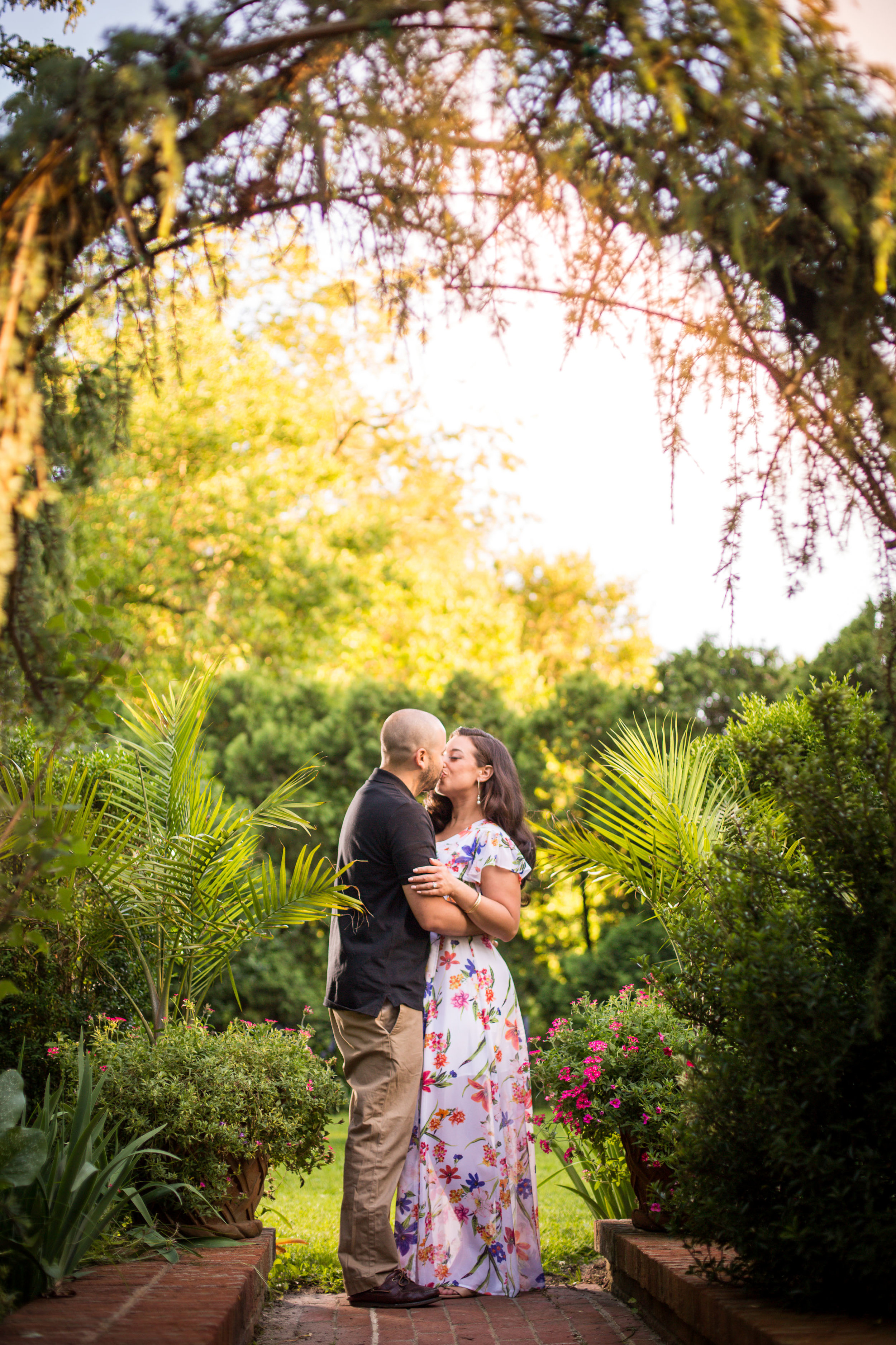 Beautiful engagement session on the grounds of Merry Sherwood. The gardens are painstakingly cared for with the utmost attention to detail and clear thought of the time period.