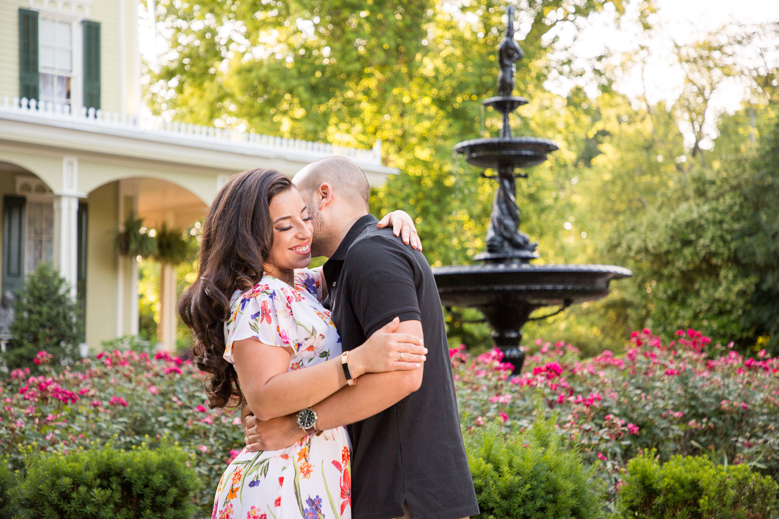 Engagement session at Merry Sherwood in Berlin Md. Hair and makeup expertly done by  https://allaboutusalonandspa.com .