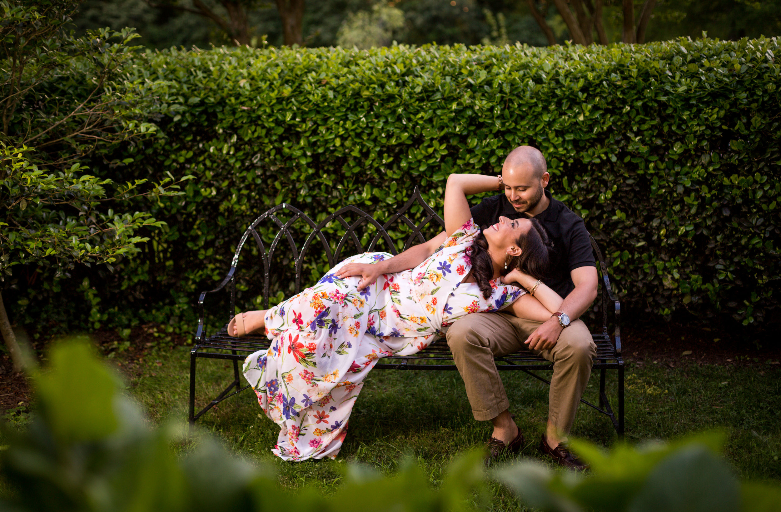 Romantic engagement session on the historic grounds of Merry Sherwood, Berlin Marylands premier wedding venue.