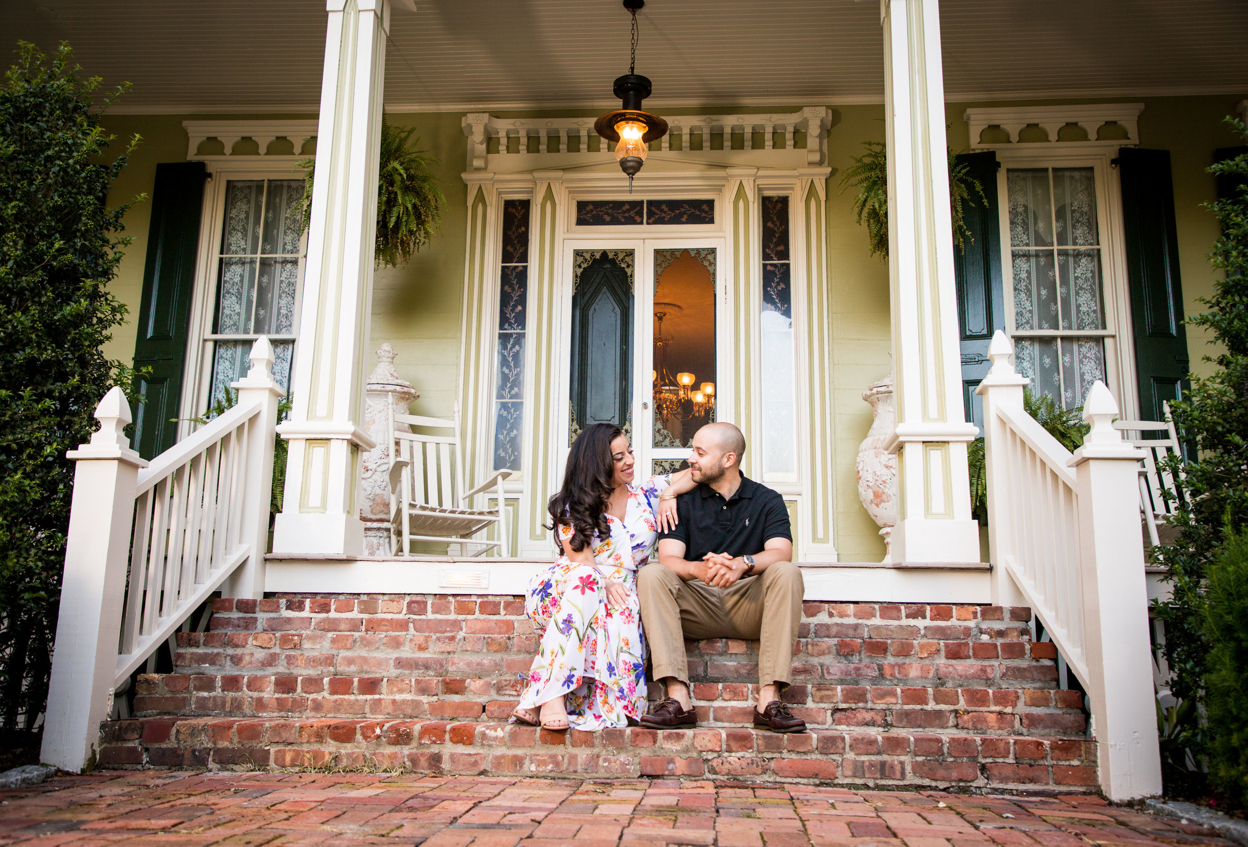 Engagement session at the historic wedding venue near Ocean City Md
