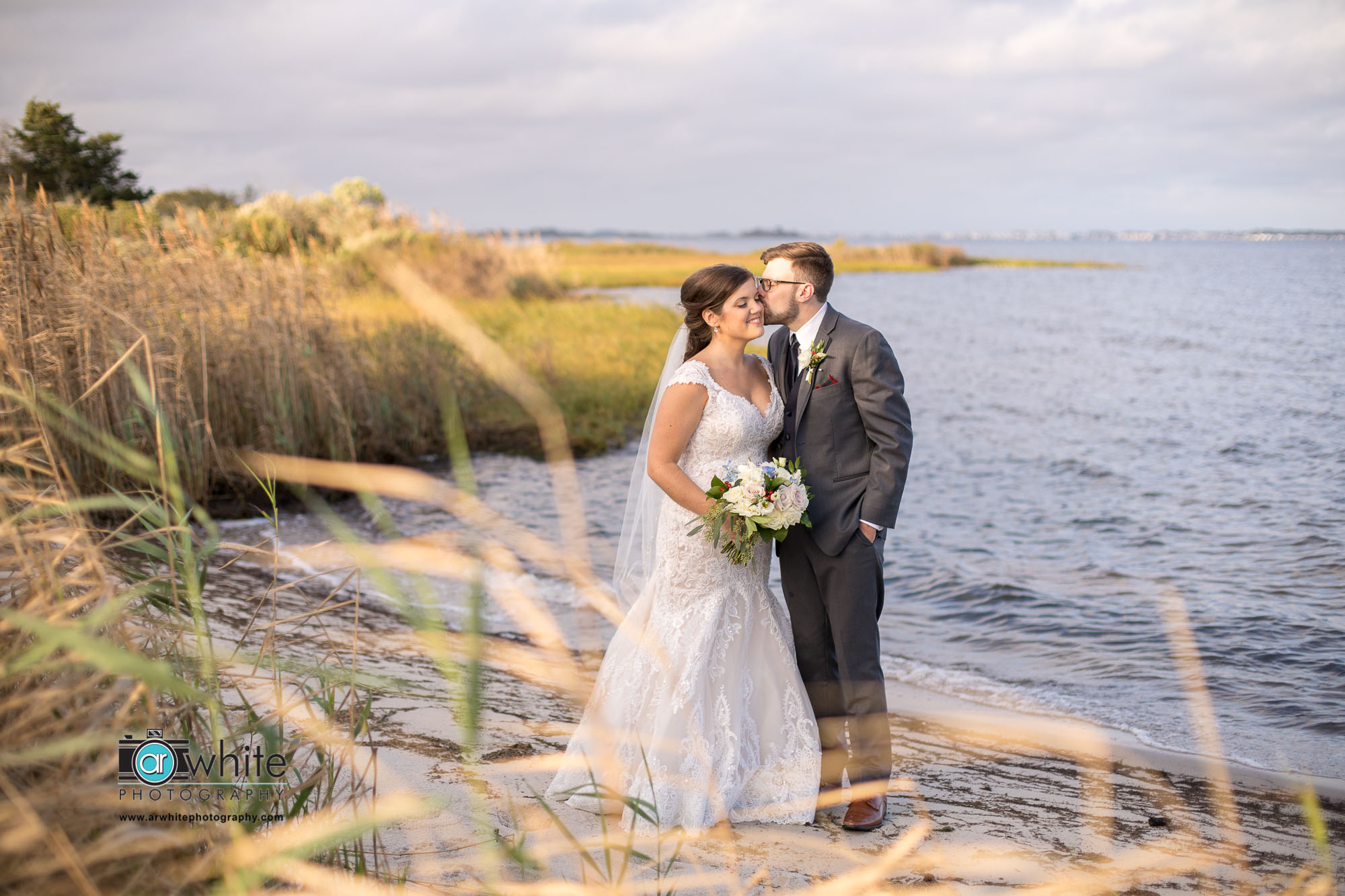 This adorable private beach is a short golf cart ride away at Lighthouse Sound, Maryland's premier golf club wedding venue near Ocean City, Md.