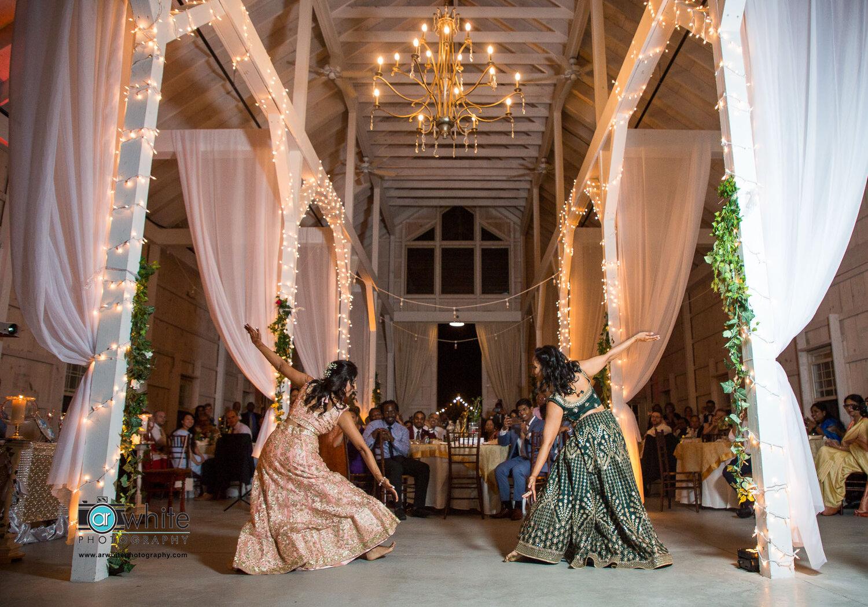 Indian wedding dance at Kylan Barn.