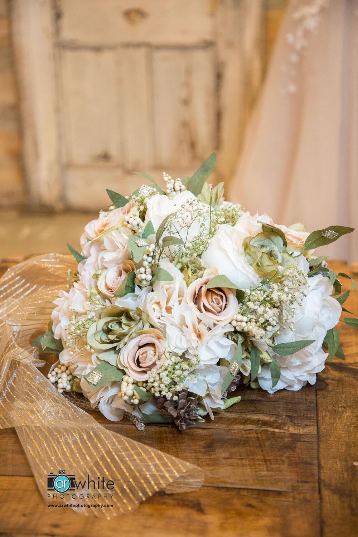 Bride's flower bouquet.