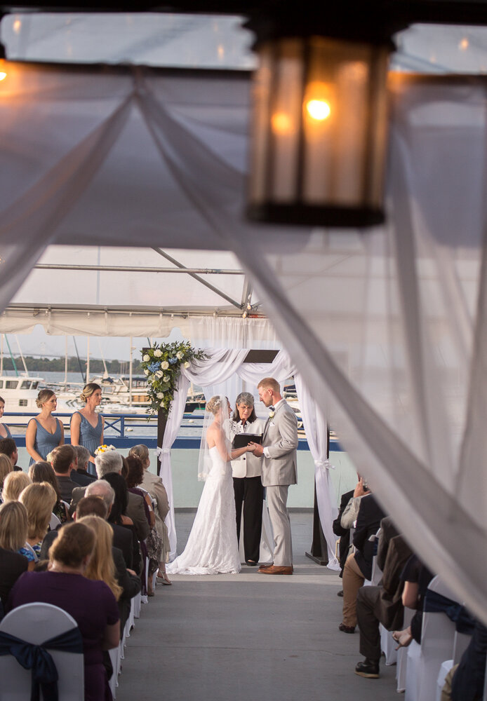 Wedding ceremony at the Annapolis Waterfront Hotel in Annapolis, Md.