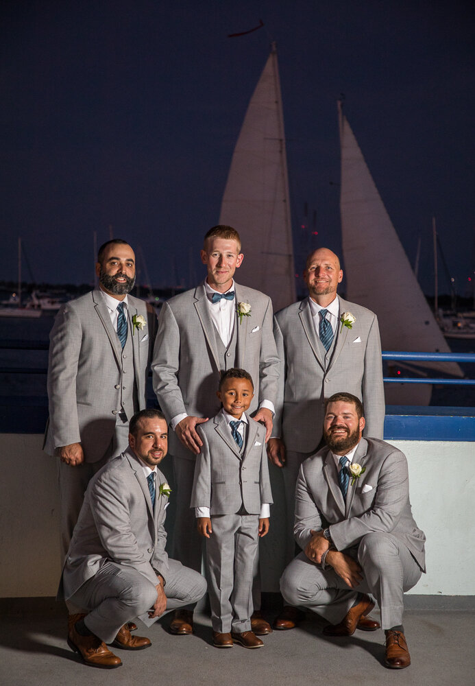 Groomsmen portraits follow the ceremony at the Annapolis Waterfront Hotel.