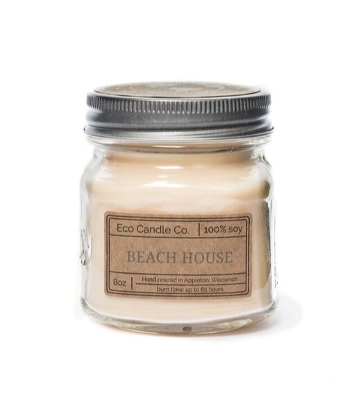 Peppermint CandleScented Soy Wax CandleMason Jar CandlesEB