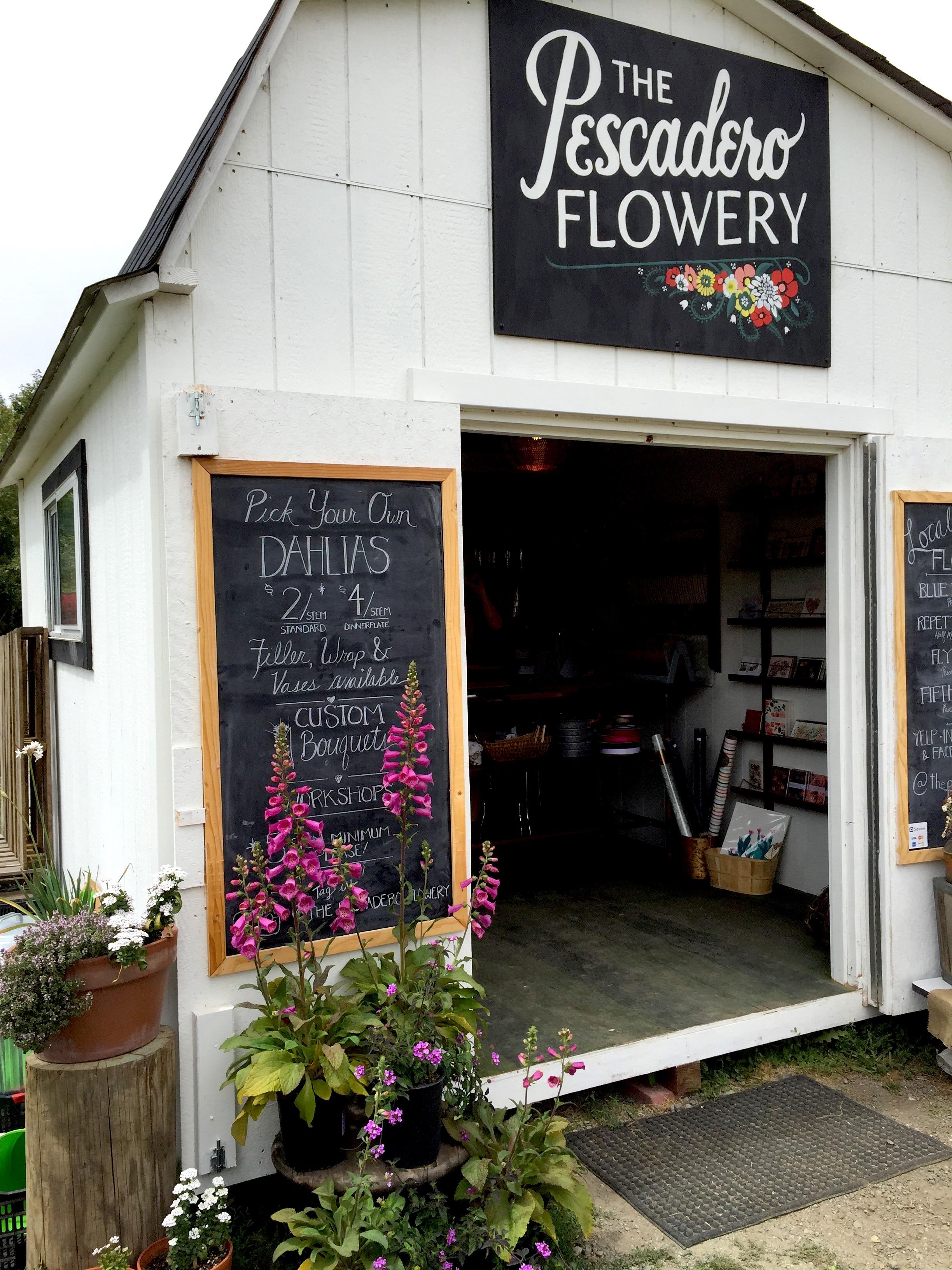 The Pescadero Flowery: U-Pick Dahlia farm + floral workshops